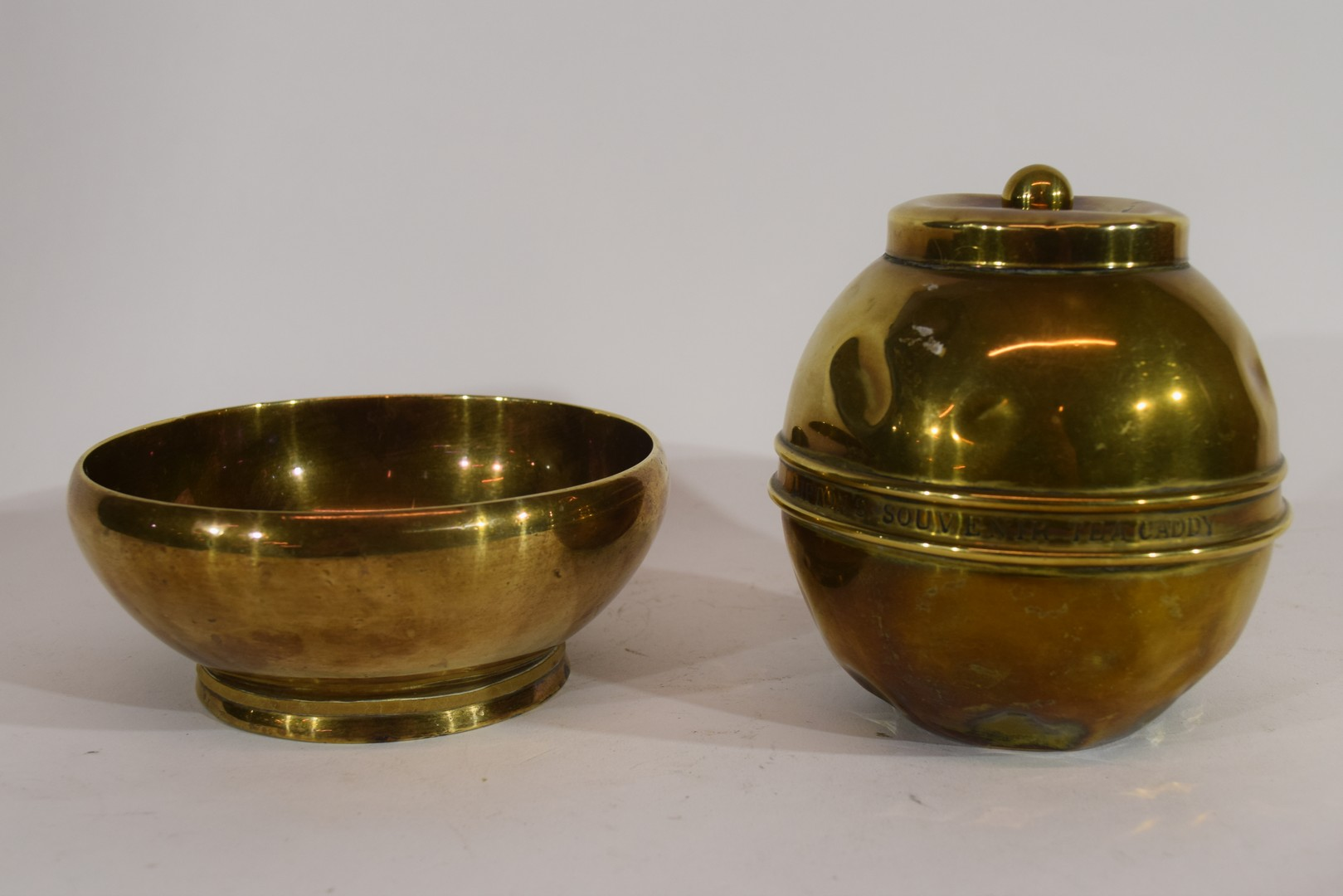 Liptons souvenir tea caddy from The British Empire Exhibition 1924