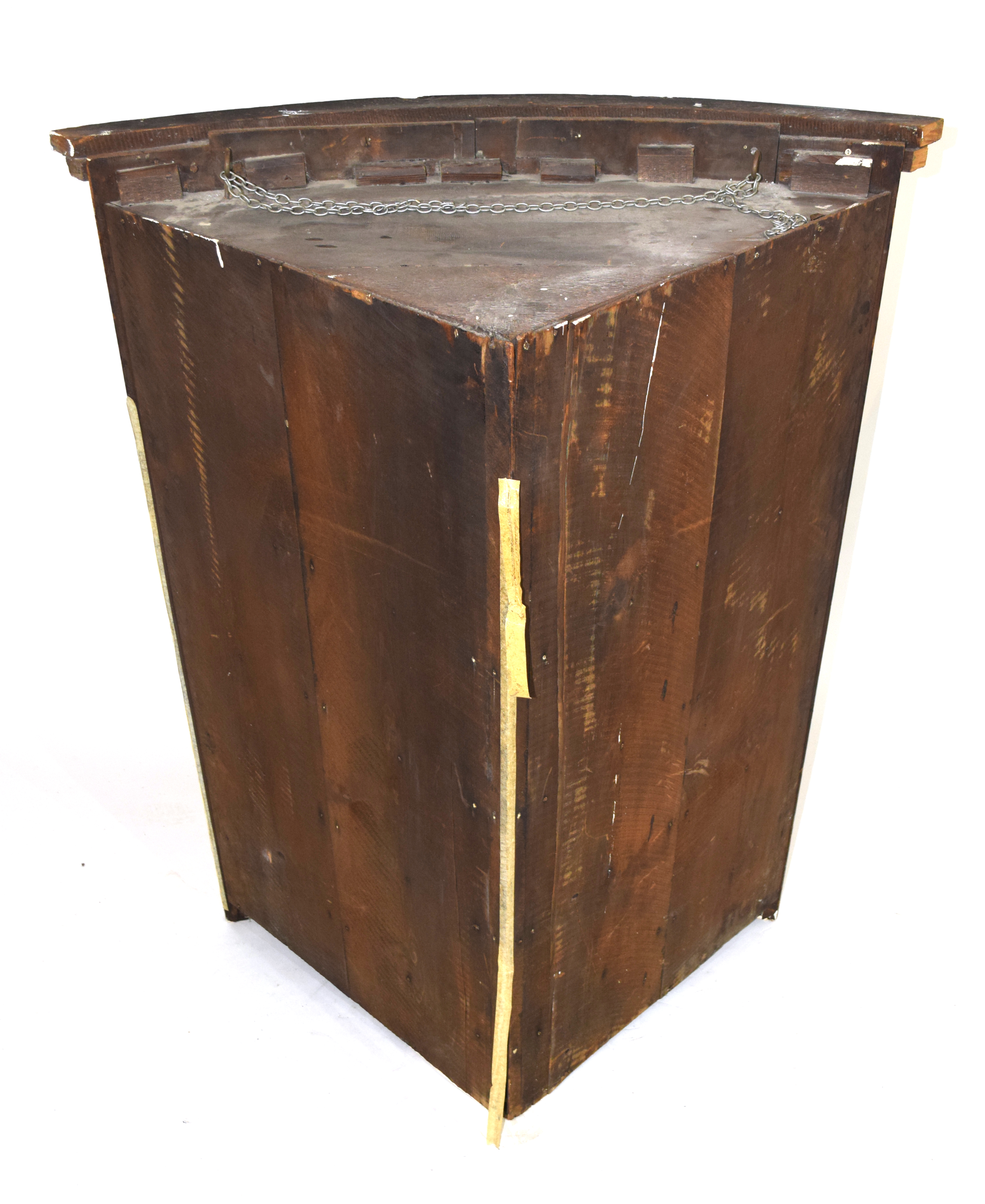 19th century mahogany corner cabinet of large proportions, the bow front body with two panelled - Image 4 of 4
