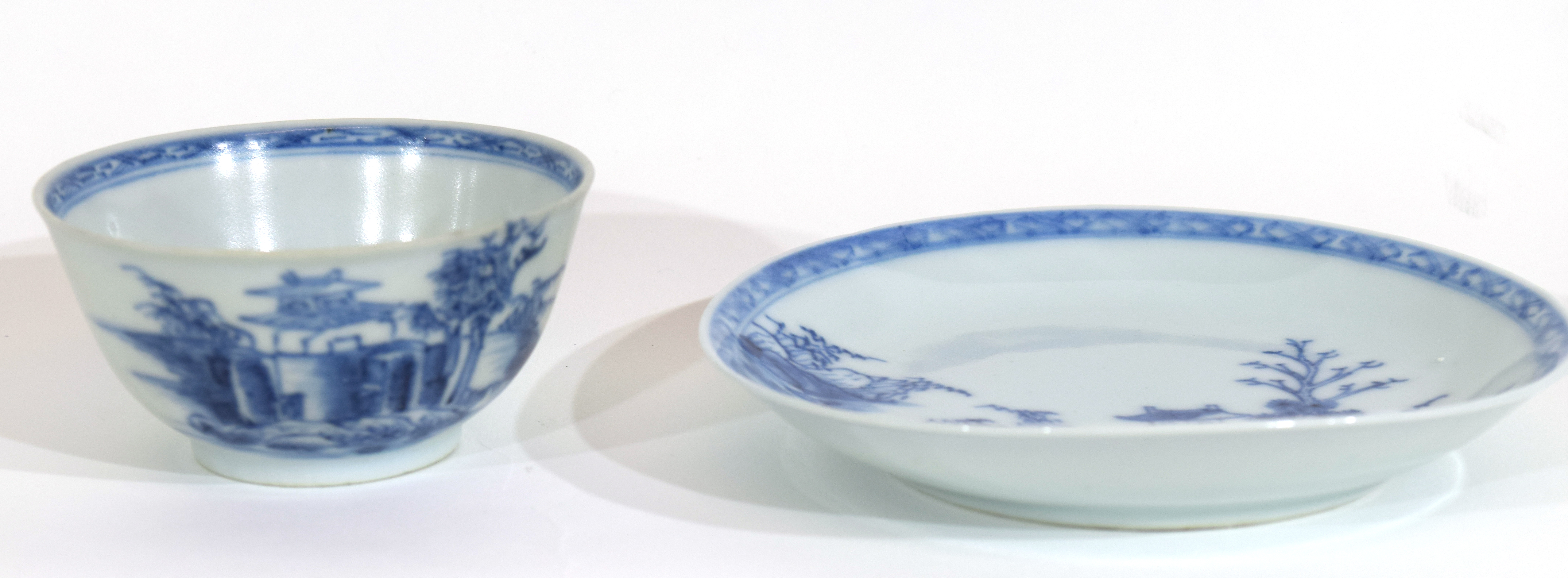 18th century Chinese porcelain Nanking Cargo tea bowl and saucer - Image 4 of 15