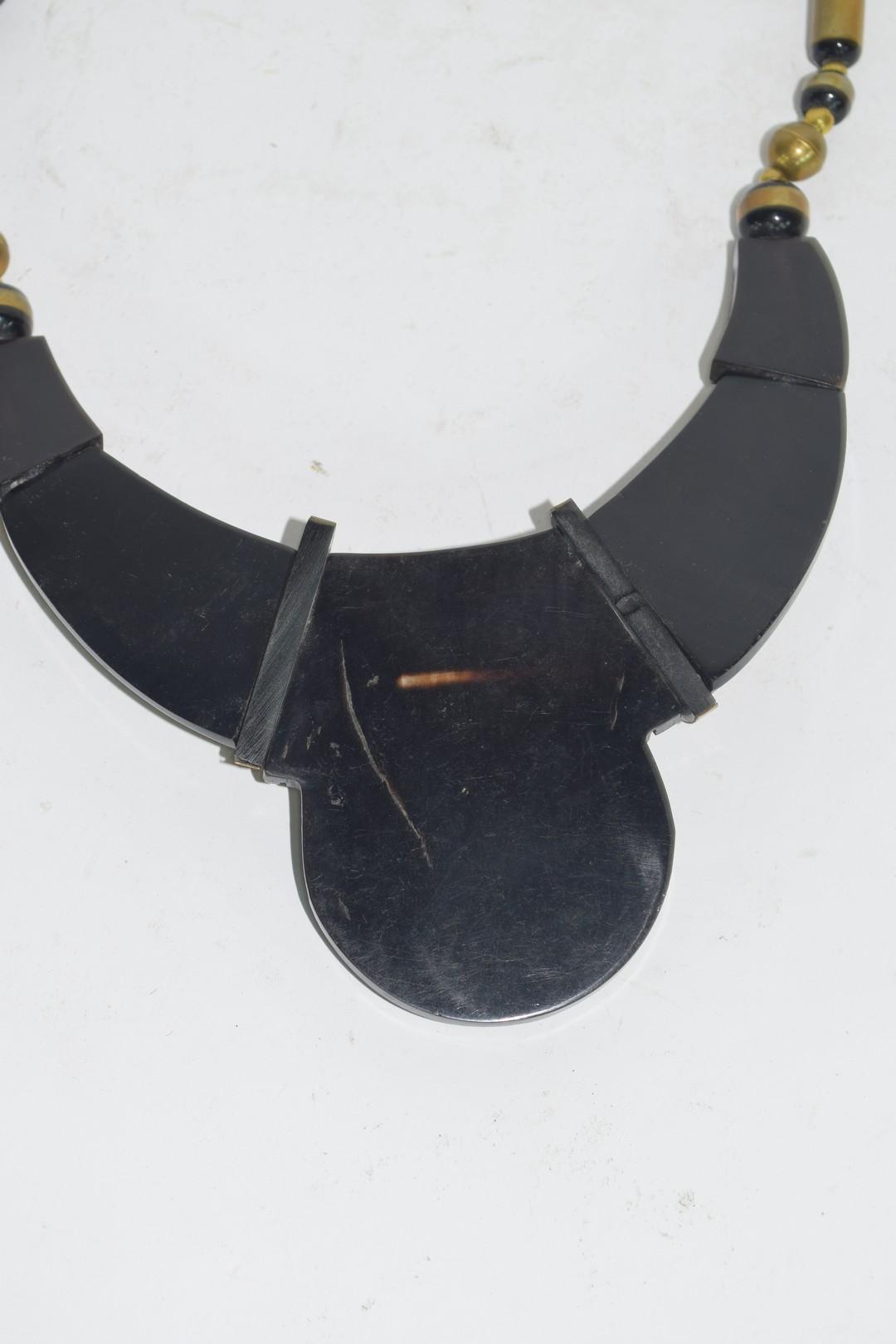 Tortoiseshell style Art Deco necklace - Image 3 of 3