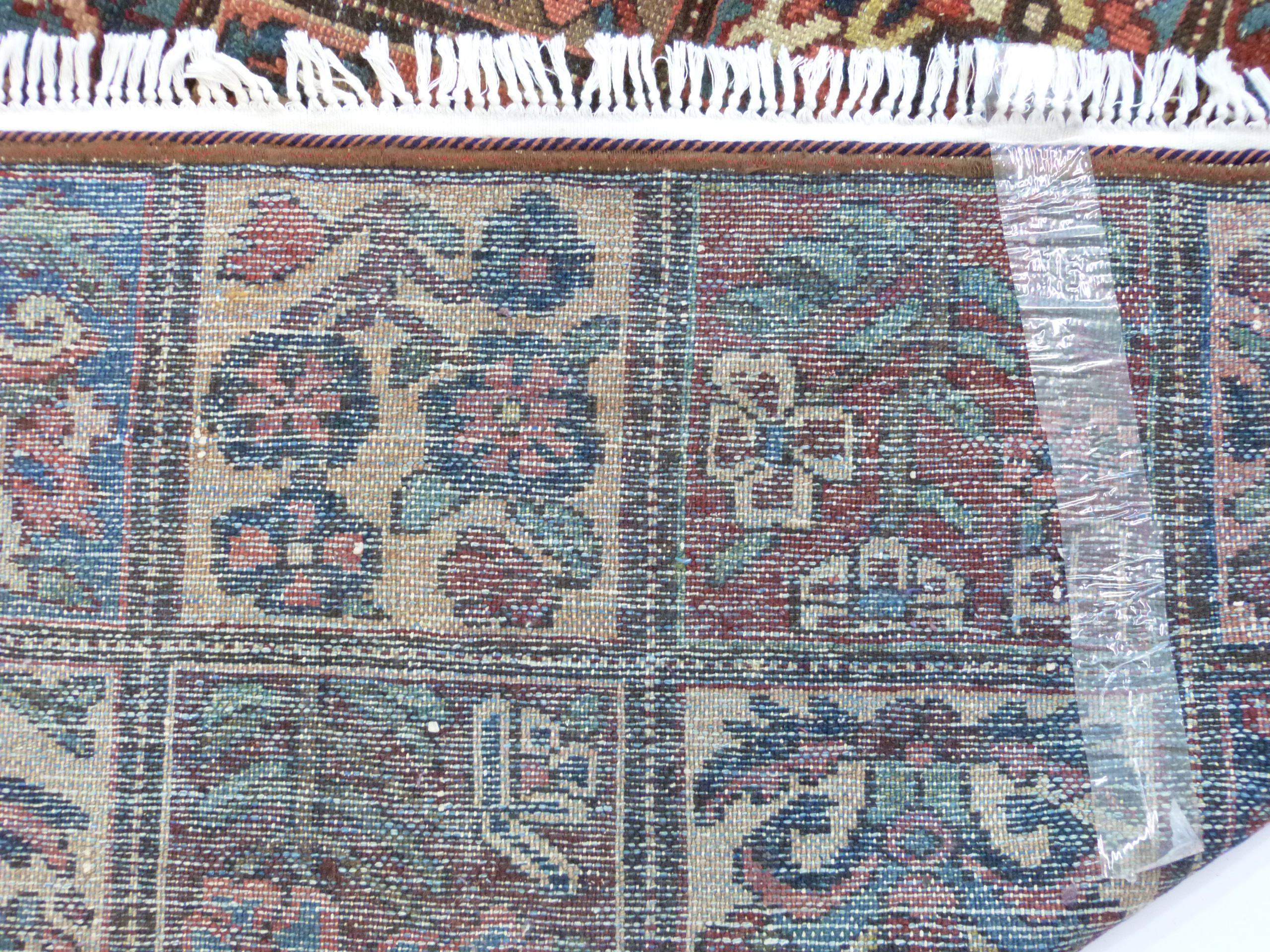 Vintage Persian Baktia Carpet, with all-over panelled design 260cm x 167cm approximately - Image 7 of 7