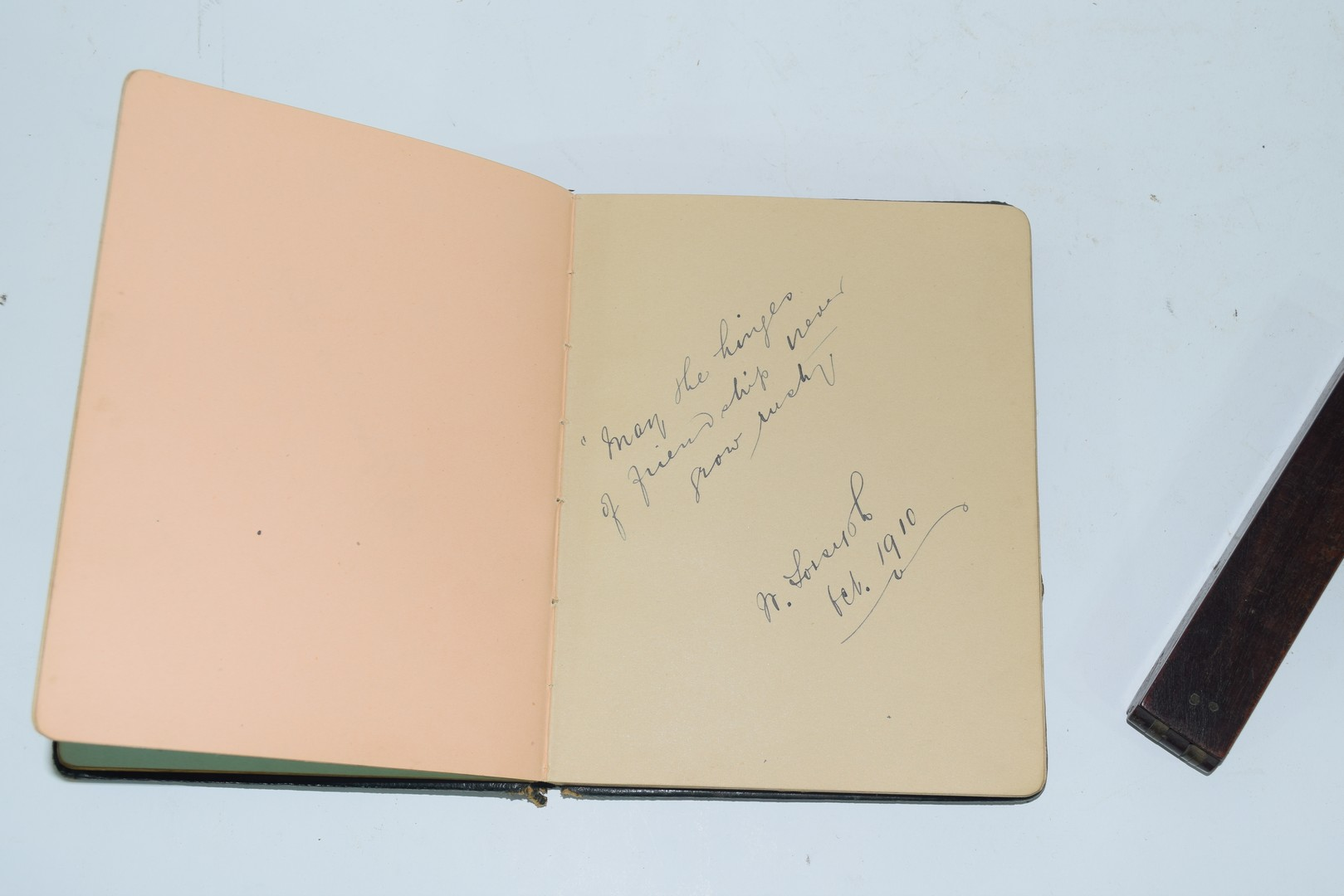 Early 20th century autograph book - Image 5 of 8