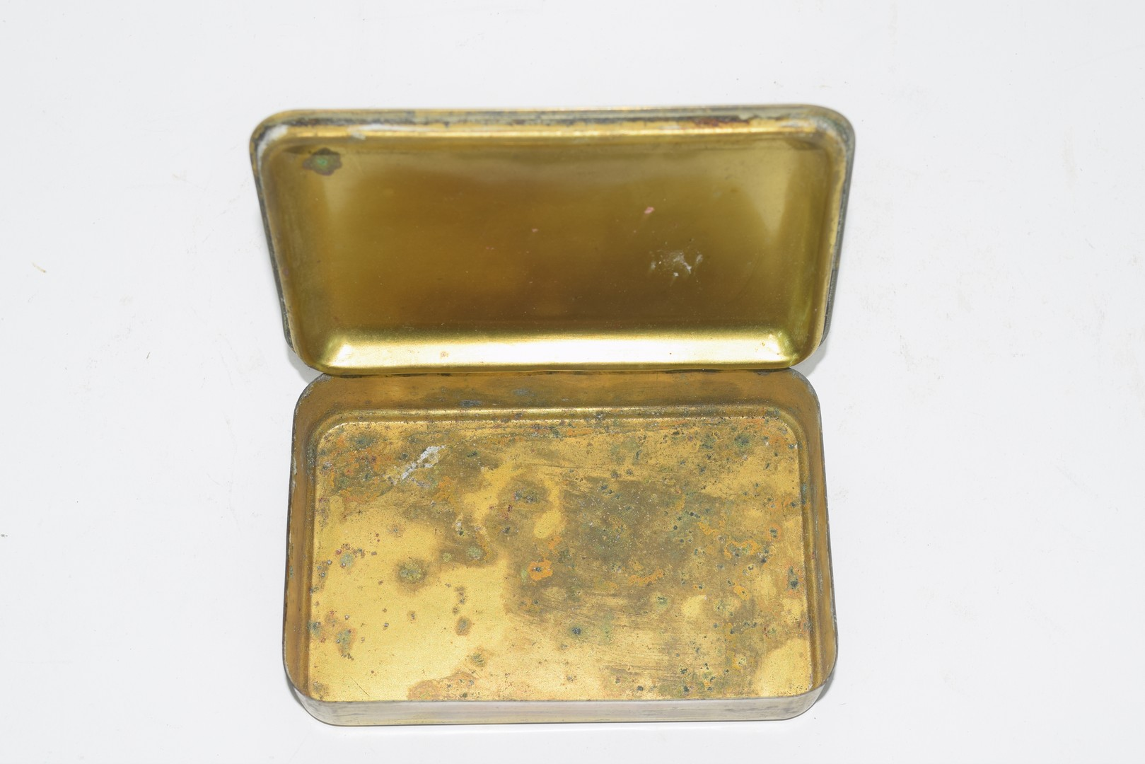 WWI Christmas 1914 brass tobacco tin - Image 2 of 2