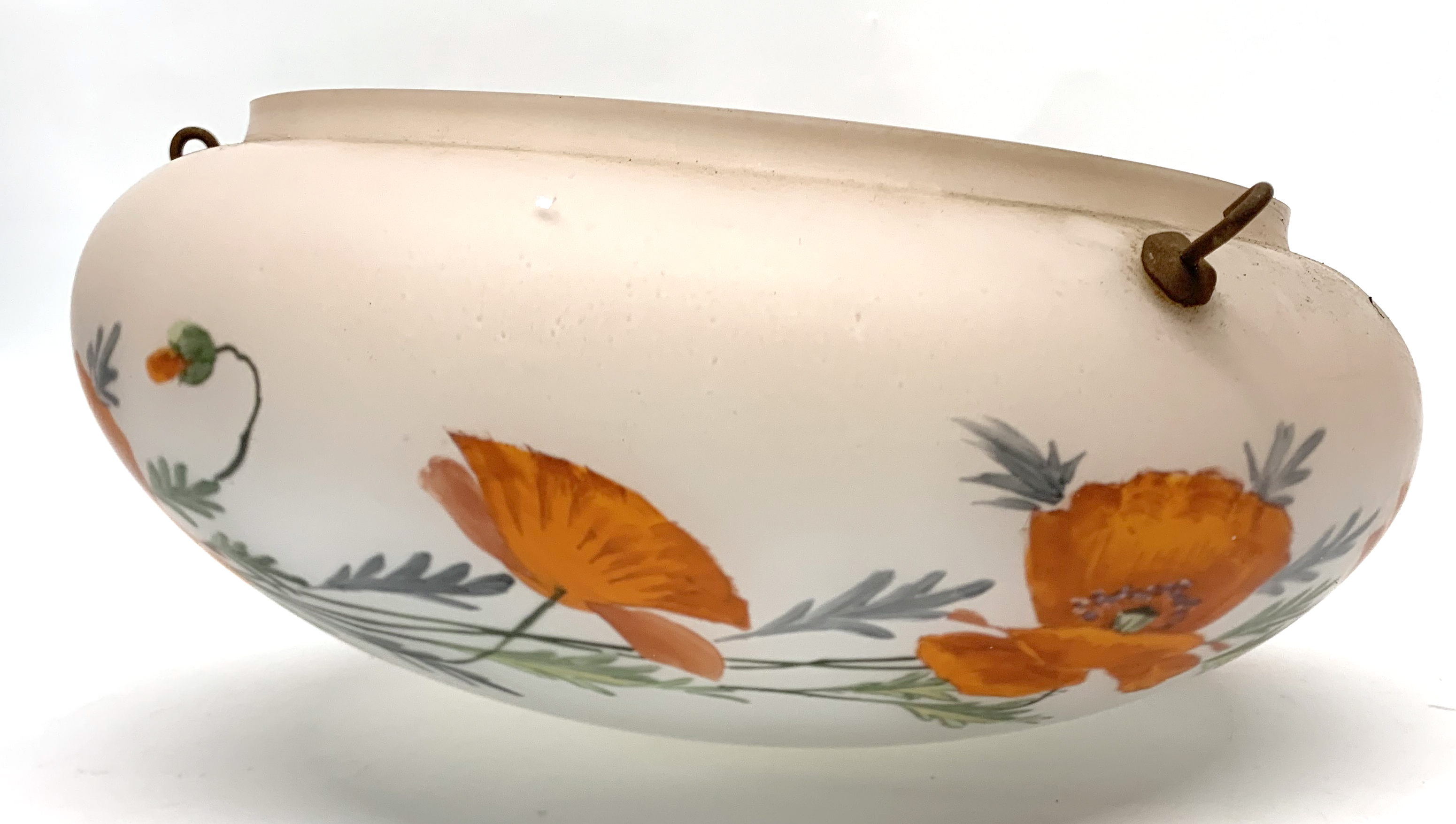 A large early 20th century glass light shade. - Image 2 of 6