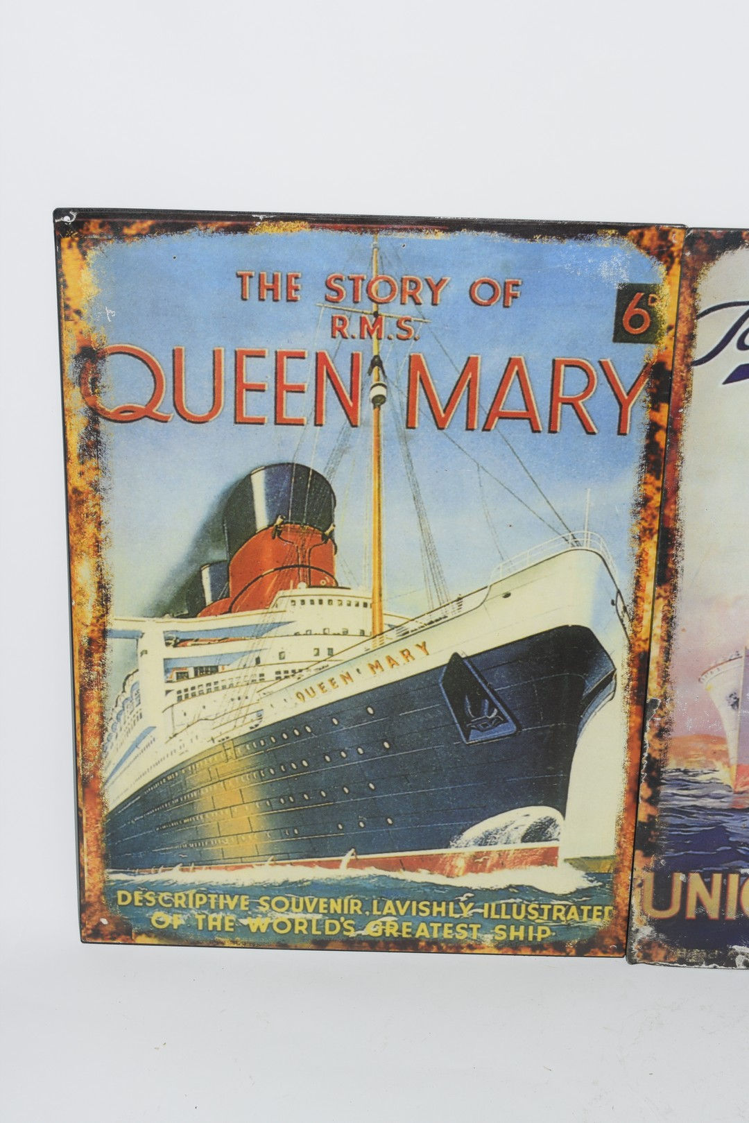 Three enamel reproduction posters - Image 2 of 4