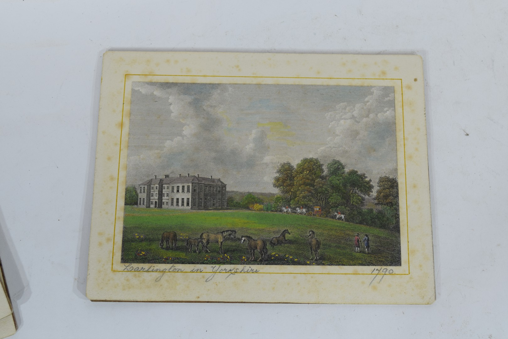 Group of four cards with coloured prints of stately homes - Image 4 of 4