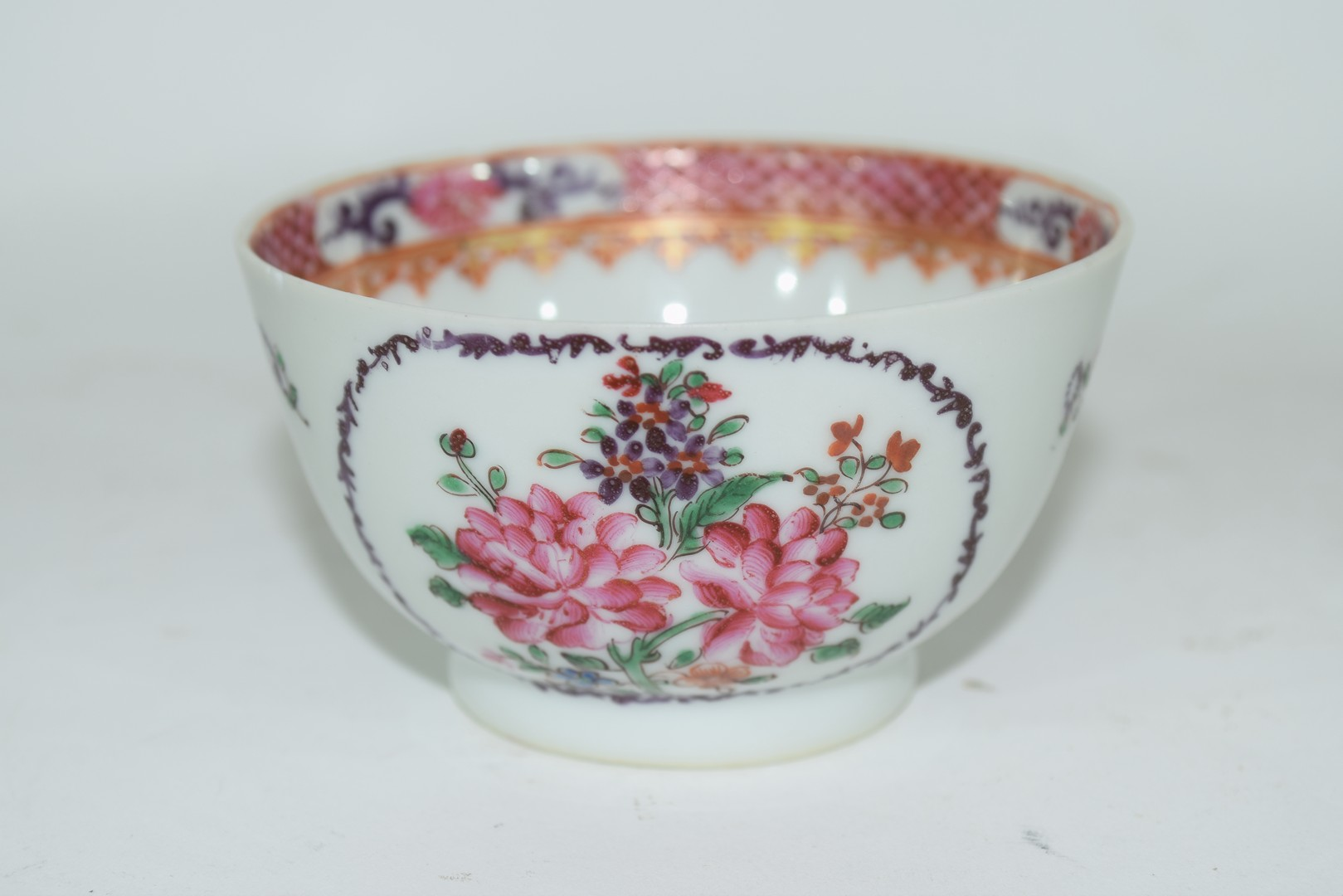 Continental porcelain cup and saucer decorated in Meissen style - Image 3 of 6