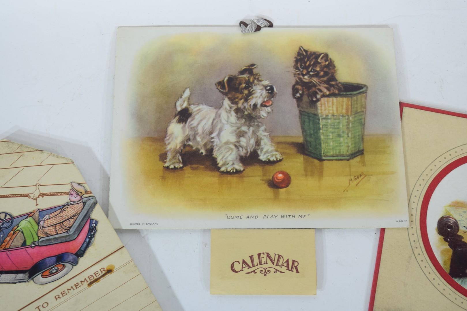 Two 1930s calendars - Image 3 of 4
