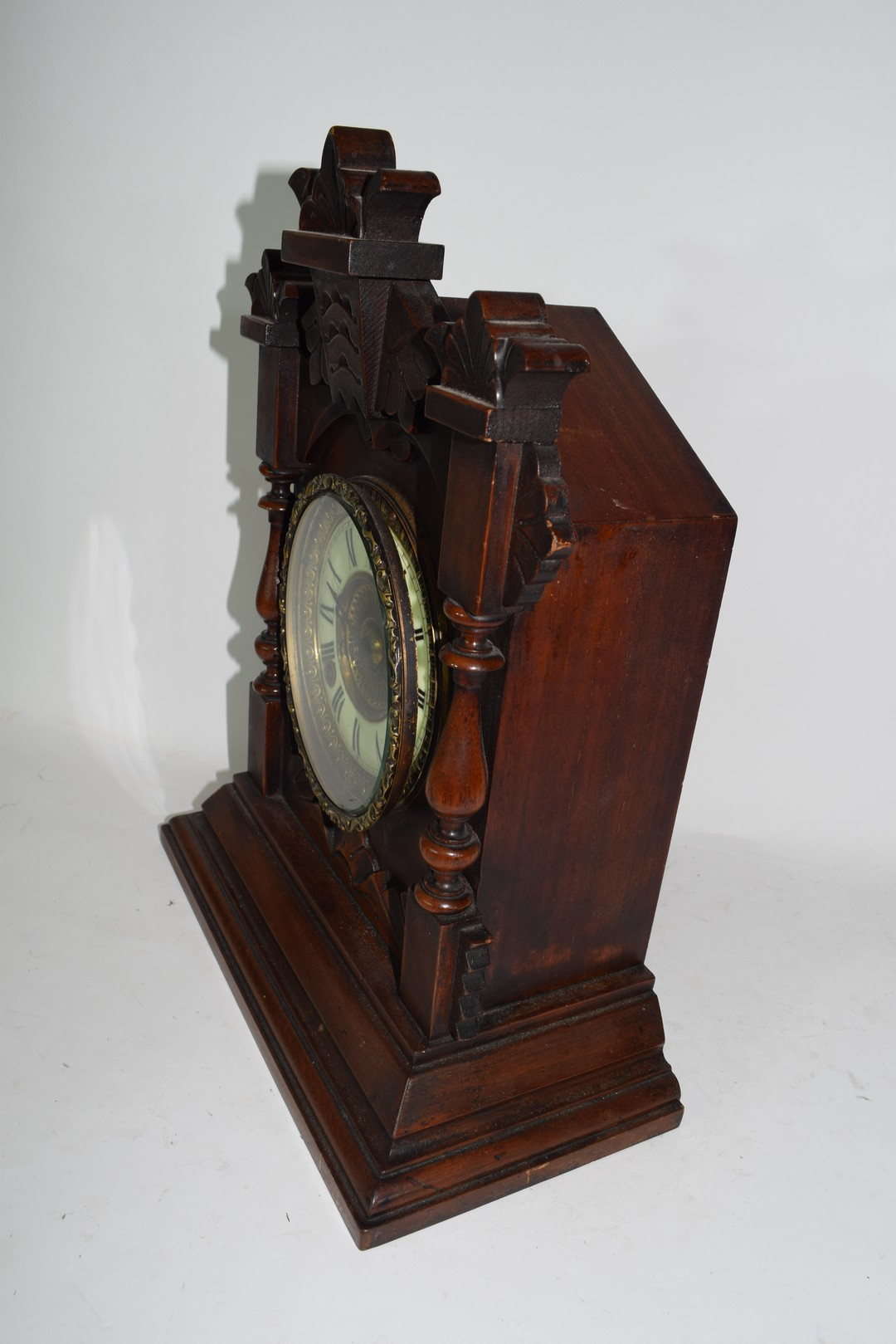 Late 19th century mantel clock by Ansona of New York - Image 3 of 6