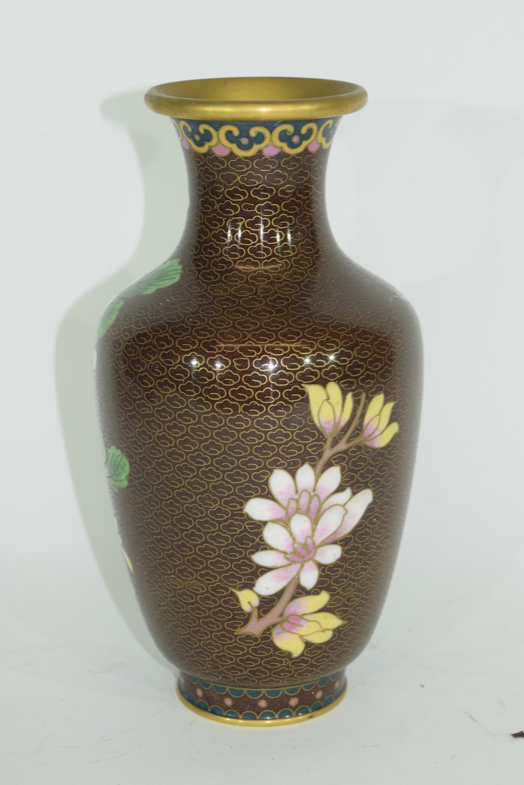 Cloisonne vase - Image 2 of 6