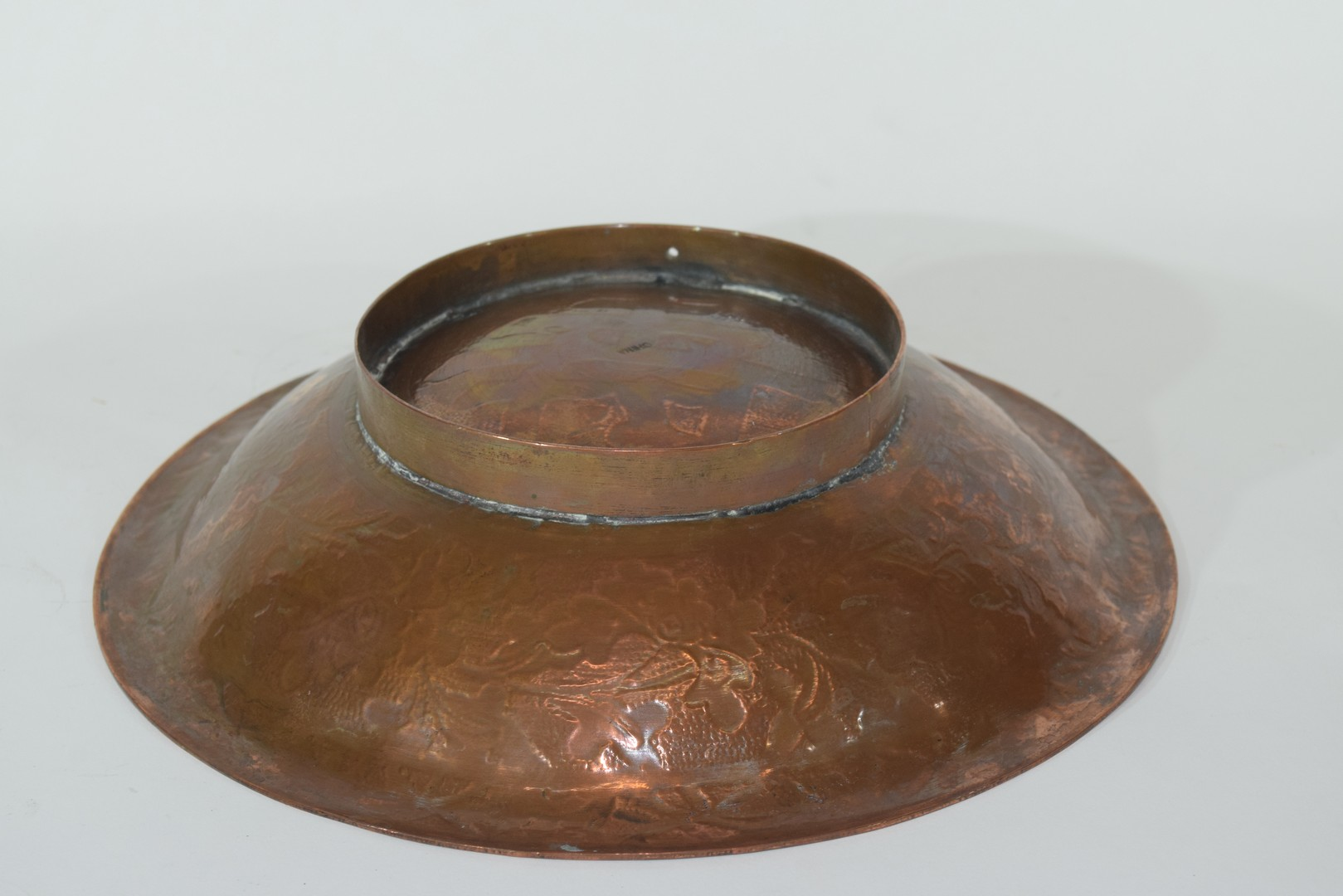 Oriental copper bowl - Image 6 of 7