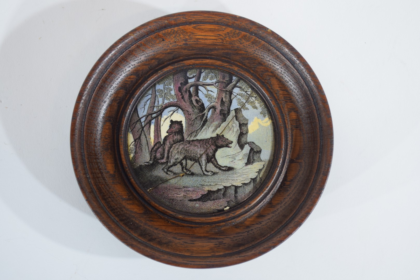 Group of pot lids on wooden mounts - Image 3 of 7