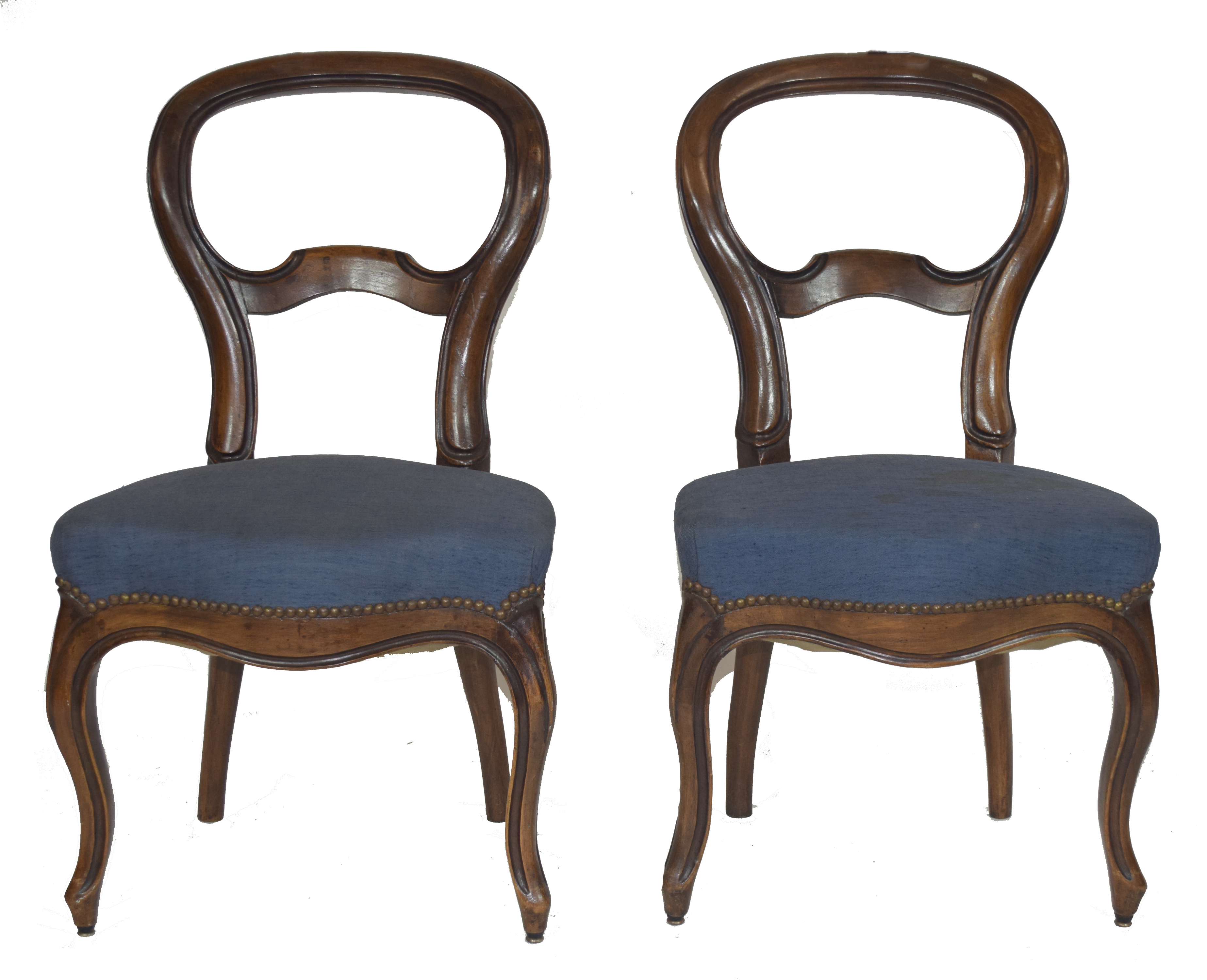 Pair of Victorian mahogany balloon back dining chairs - Image 2 of 2