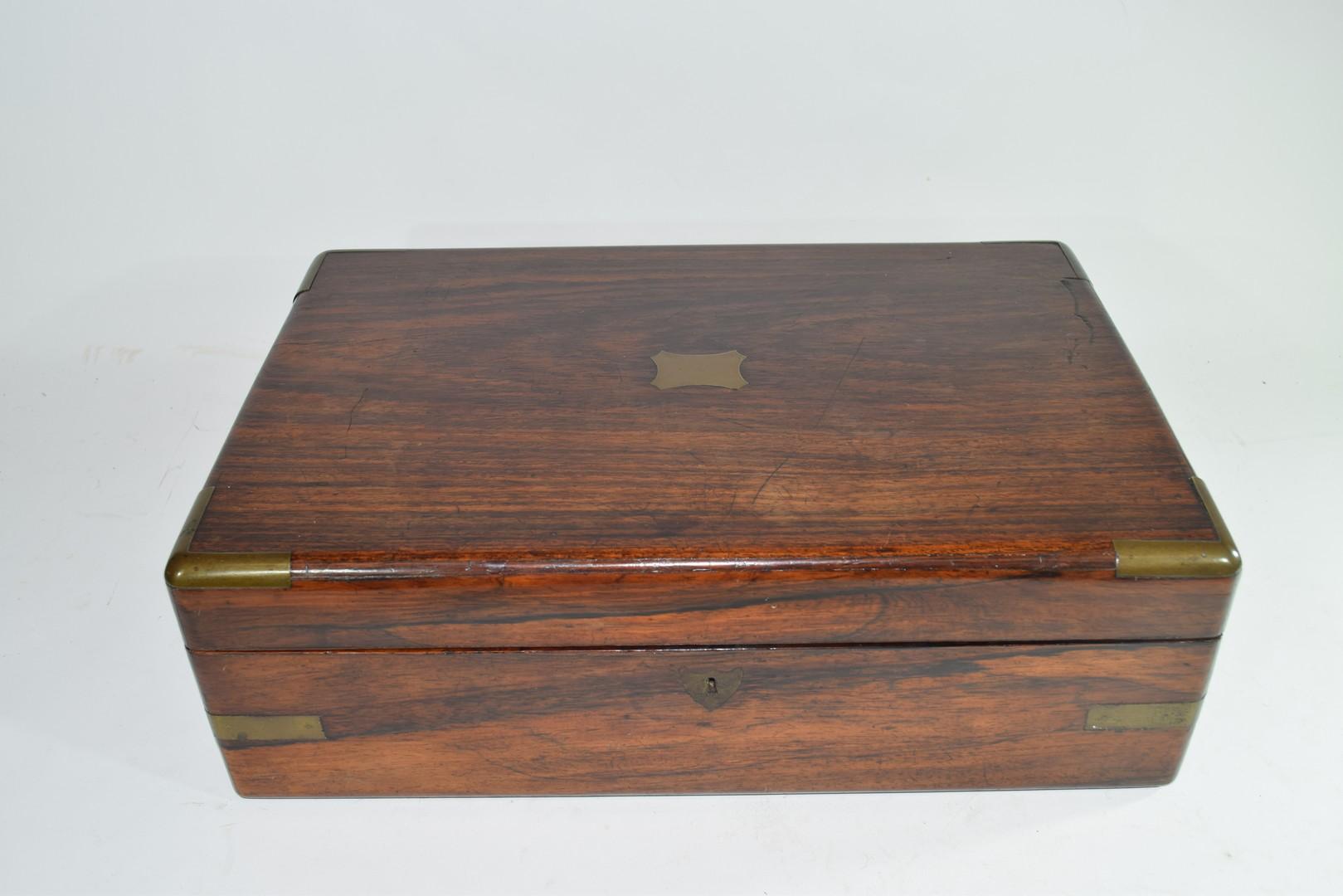 Late 19th century hardwood writing box