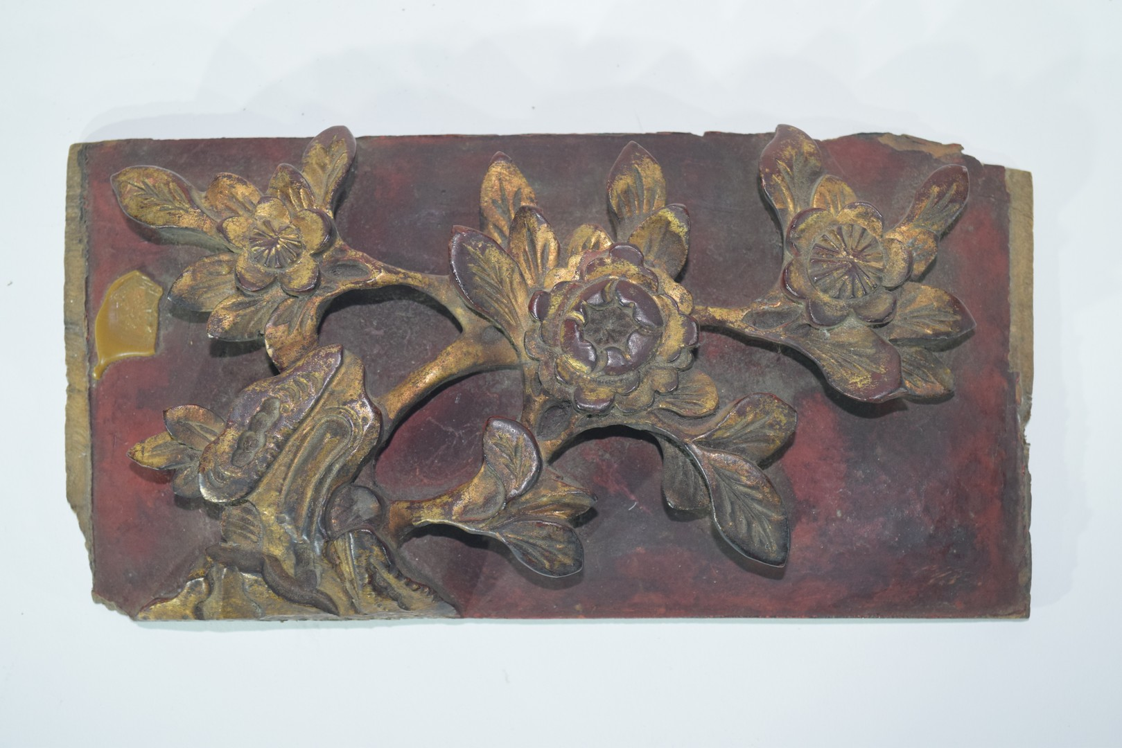 Group of seven Oriental wooden panels - Image 8 of 16