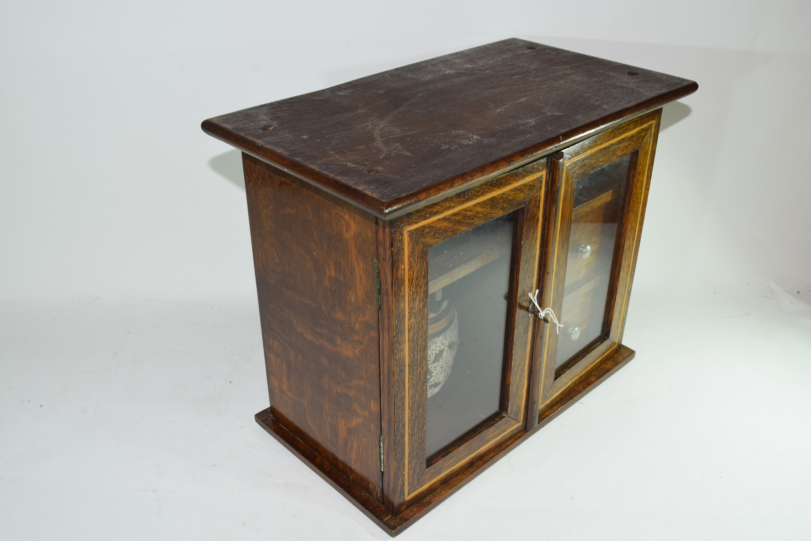 Late 19th century oak smokers cabinet - Image 2 of 5