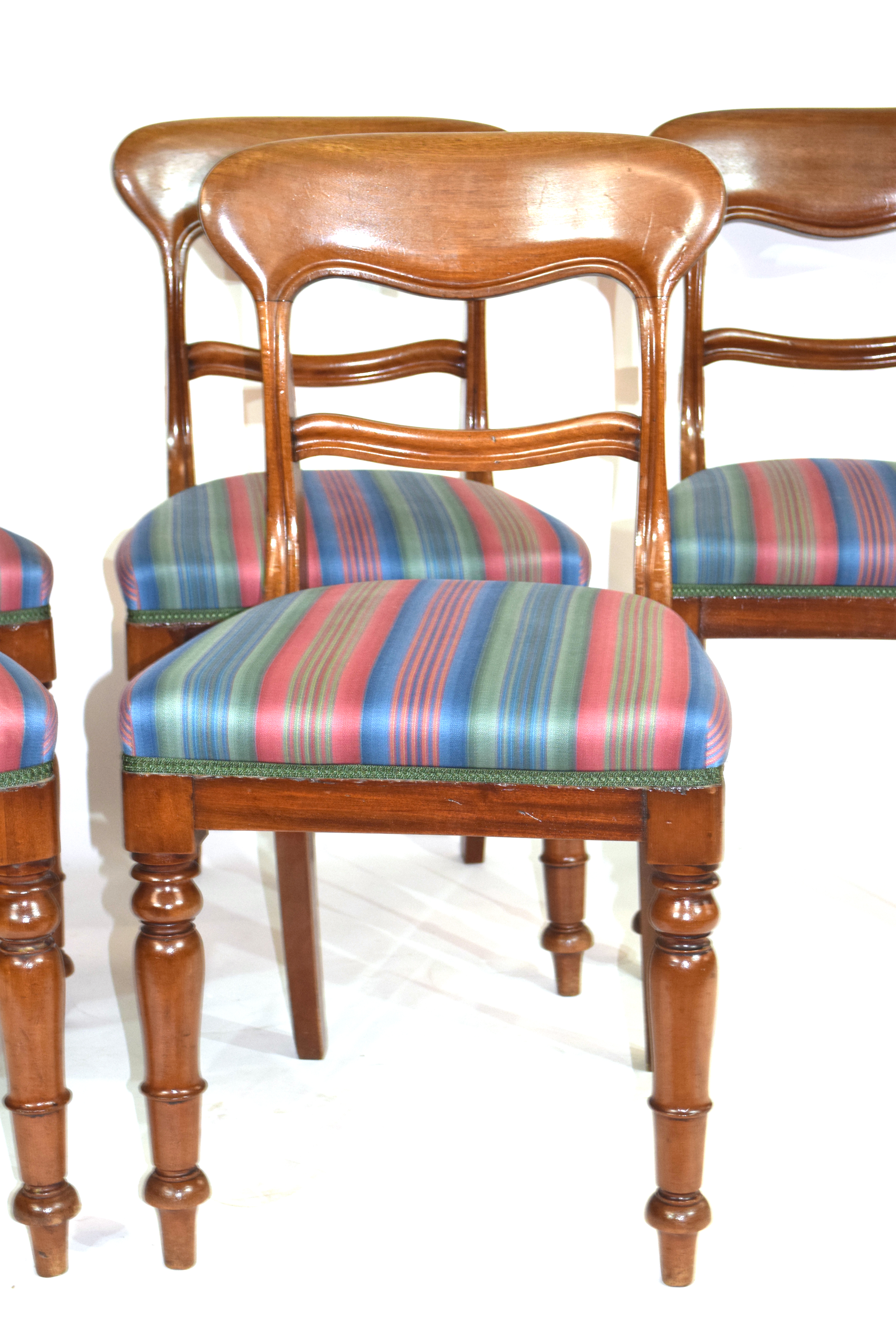 Set of six Victorian mahogany bar back dining chairs, comprising one carver and five single chairs - Image 2 of 5