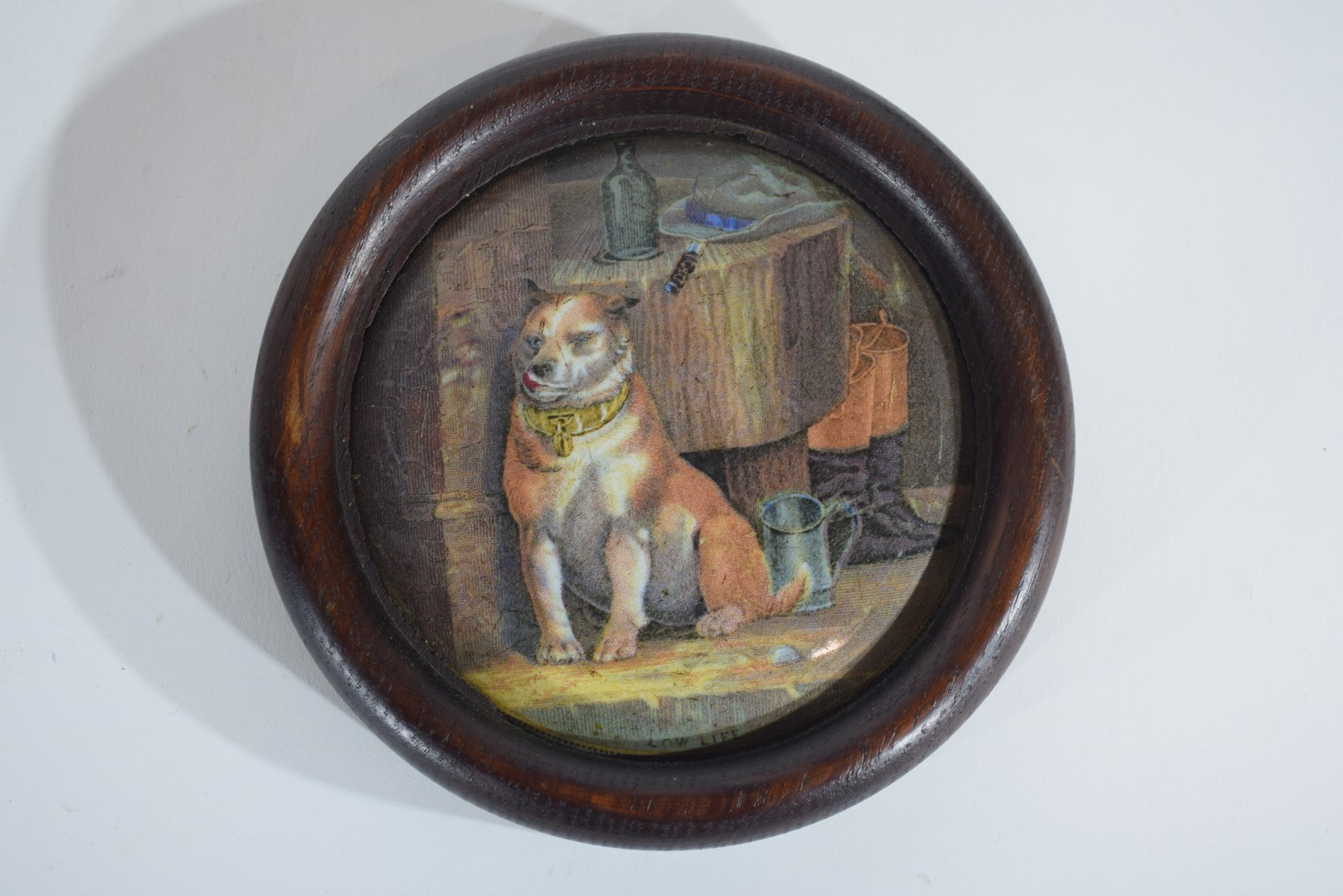 Group of pot lids on wooden mounts - Image 4 of 7