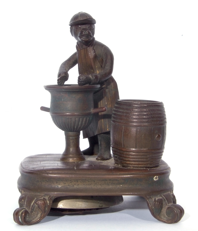 Antique bronze desk bell, a model of a monkey