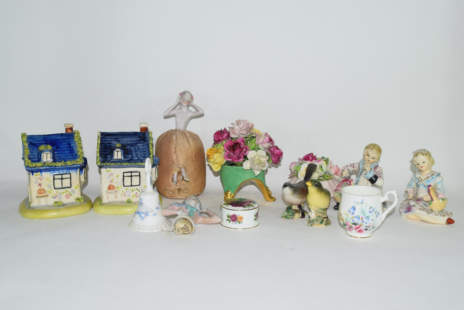 Group of English pottery and porcelain wares