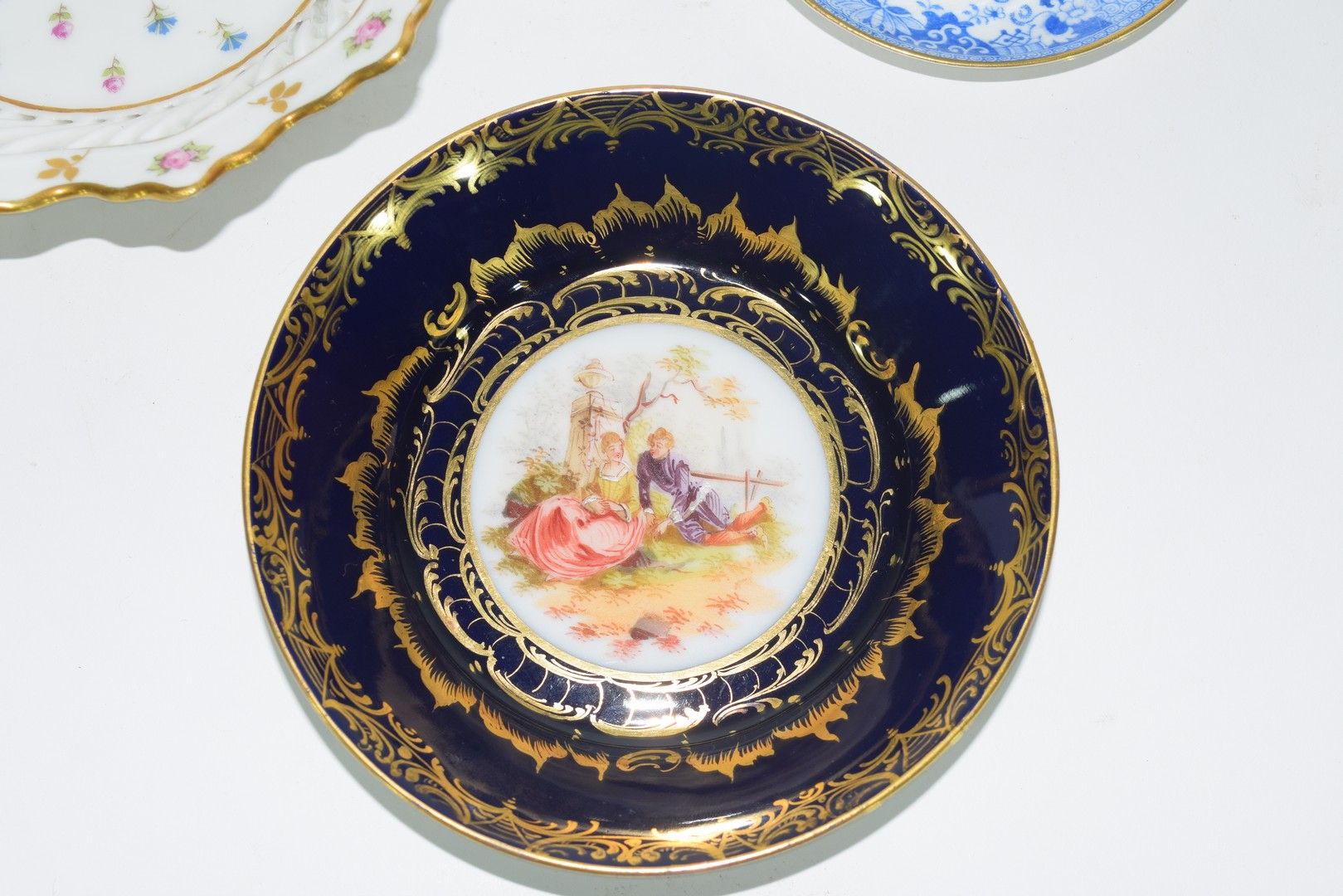 Group of Continental porcelains including a Vienna style cup and saucer - Image 3 of 12