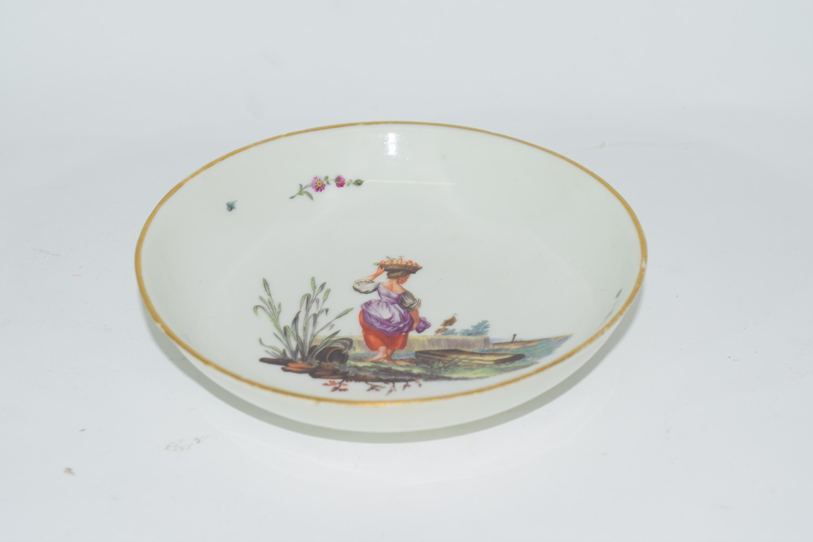 18th century Hochst porcelain saucer - Image 2 of 3