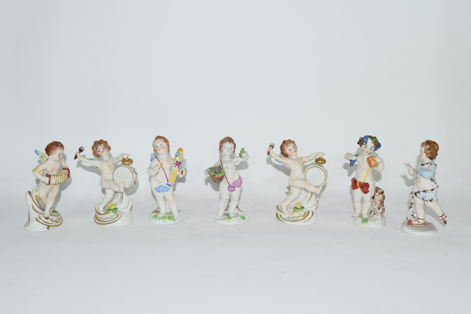 Group of Naples porcelain figures
