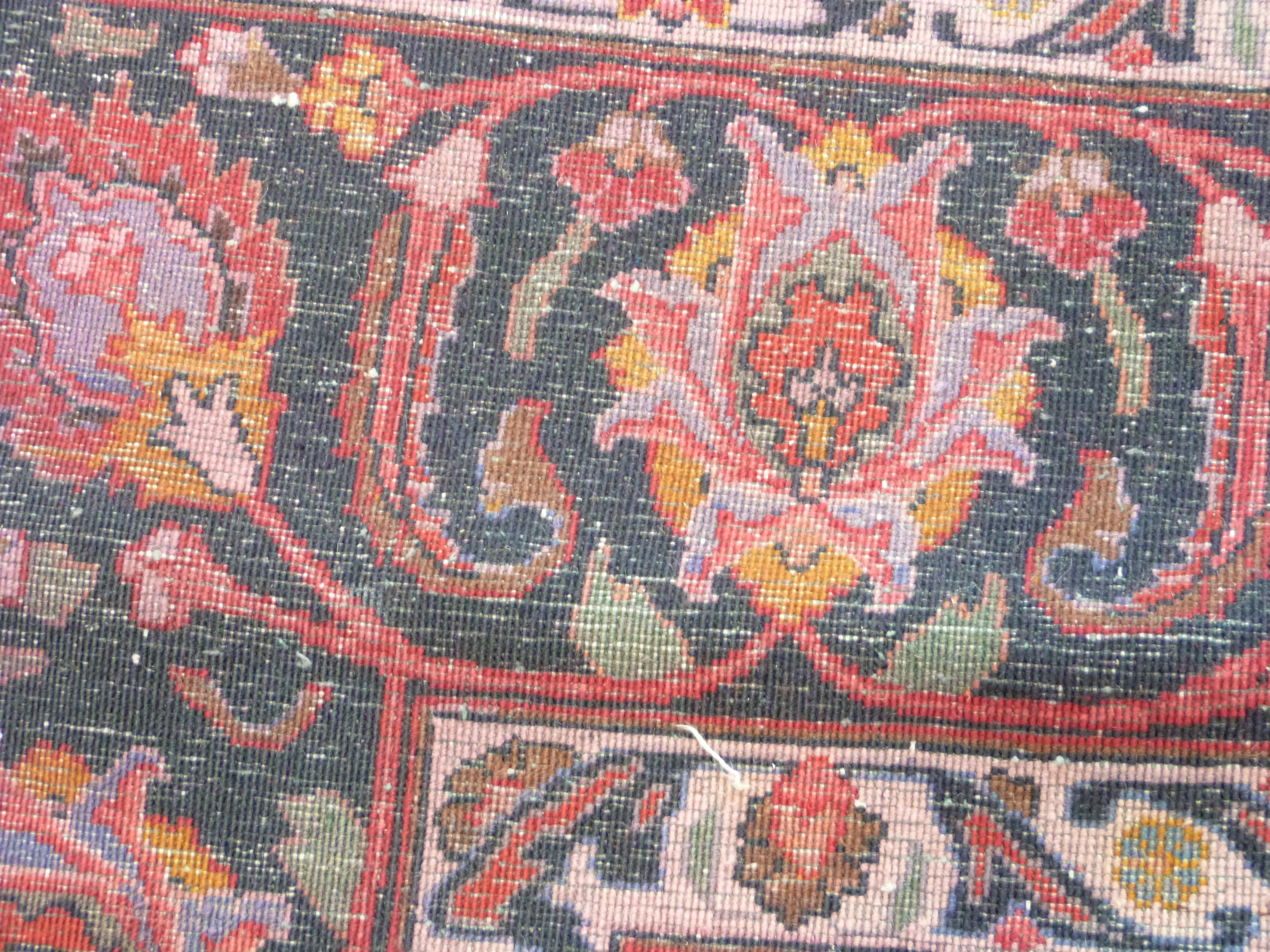 Large red ground Persian Mashad Carpet, mutlicoloured with traditional design 388cm x 270cm approx - Image 7 of 7