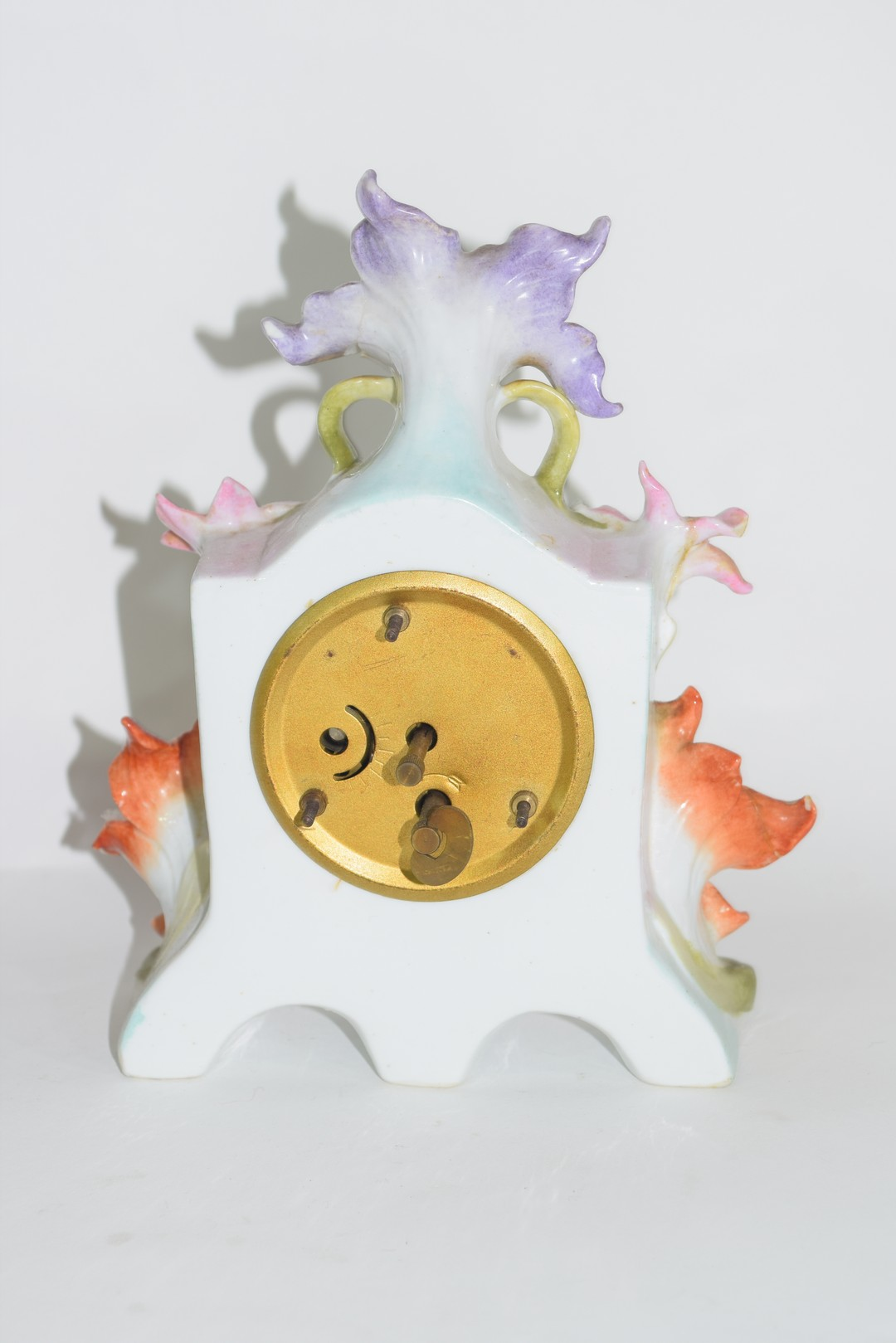 Three examples of Continental porcelain clock mantel cases - Image 7 of 9