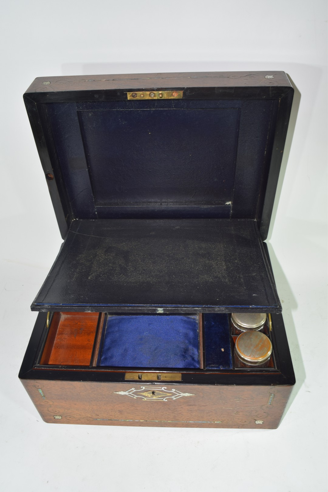 Late Victorian rosewood and mother of pearl - Image 7 of 7
