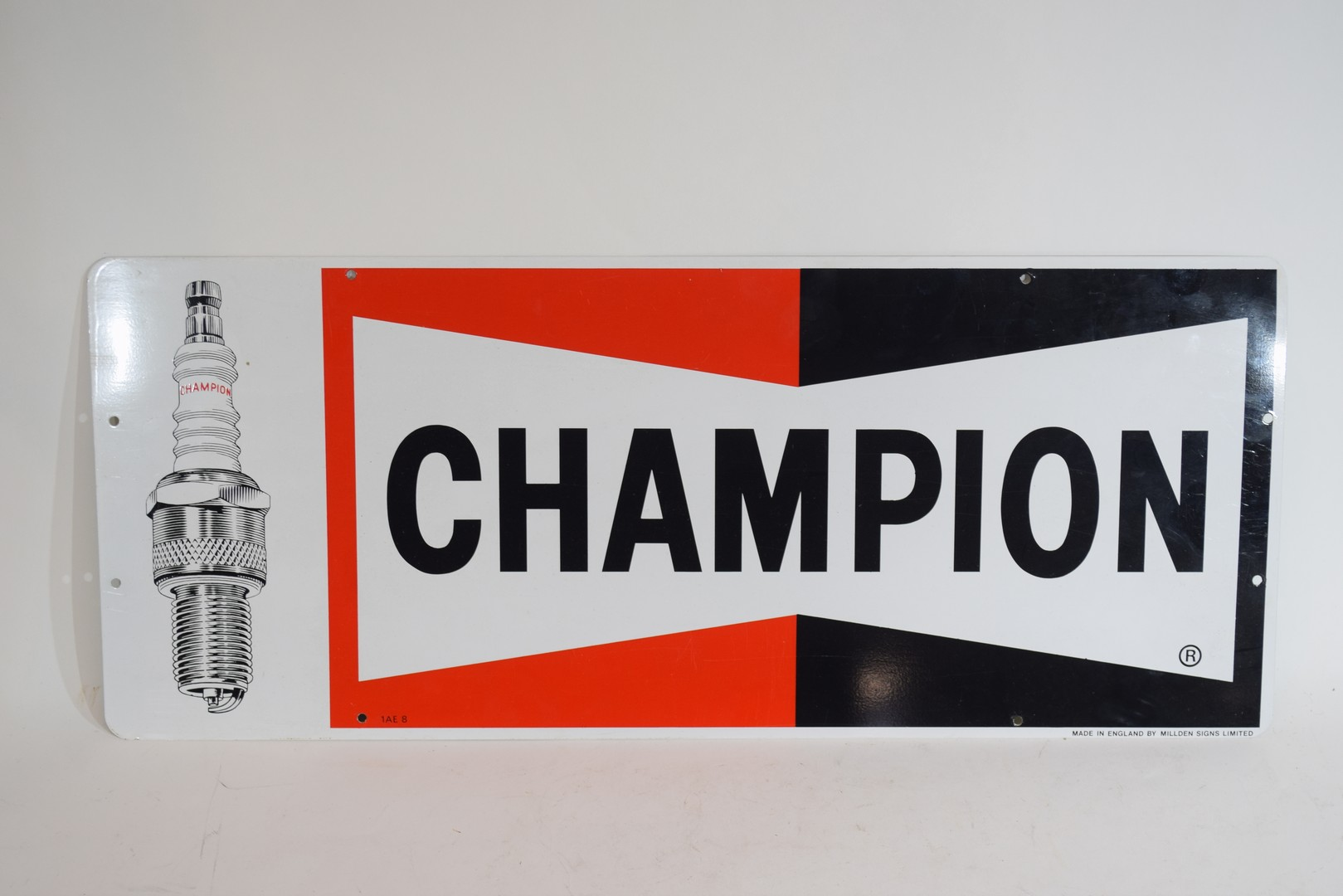 Two metal signs advertising Champion spark plugs - Image 2 of 5