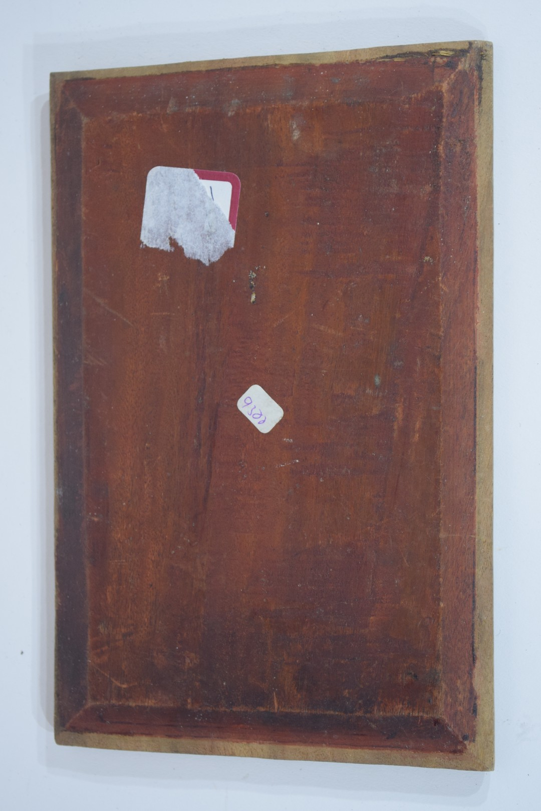Group of seven Oriental wooden panels - Image 14 of 16