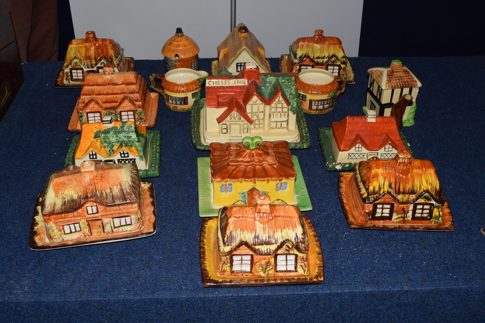 Group of mid-20th century cottage style cheese dish and butter dishes - Image 5 of 5