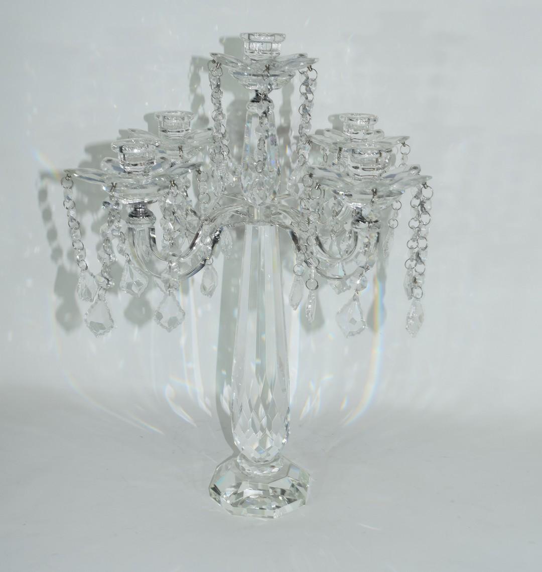 Cut glass candelabra - Image 3 of 3