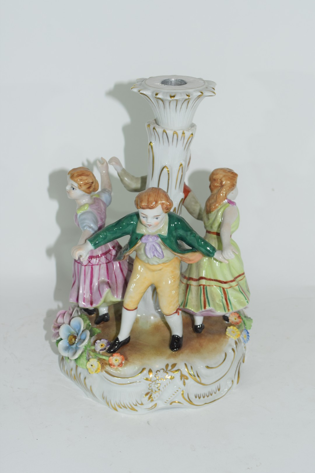 Continental porcelain candlestick in Meissen style - Image 4 of 4