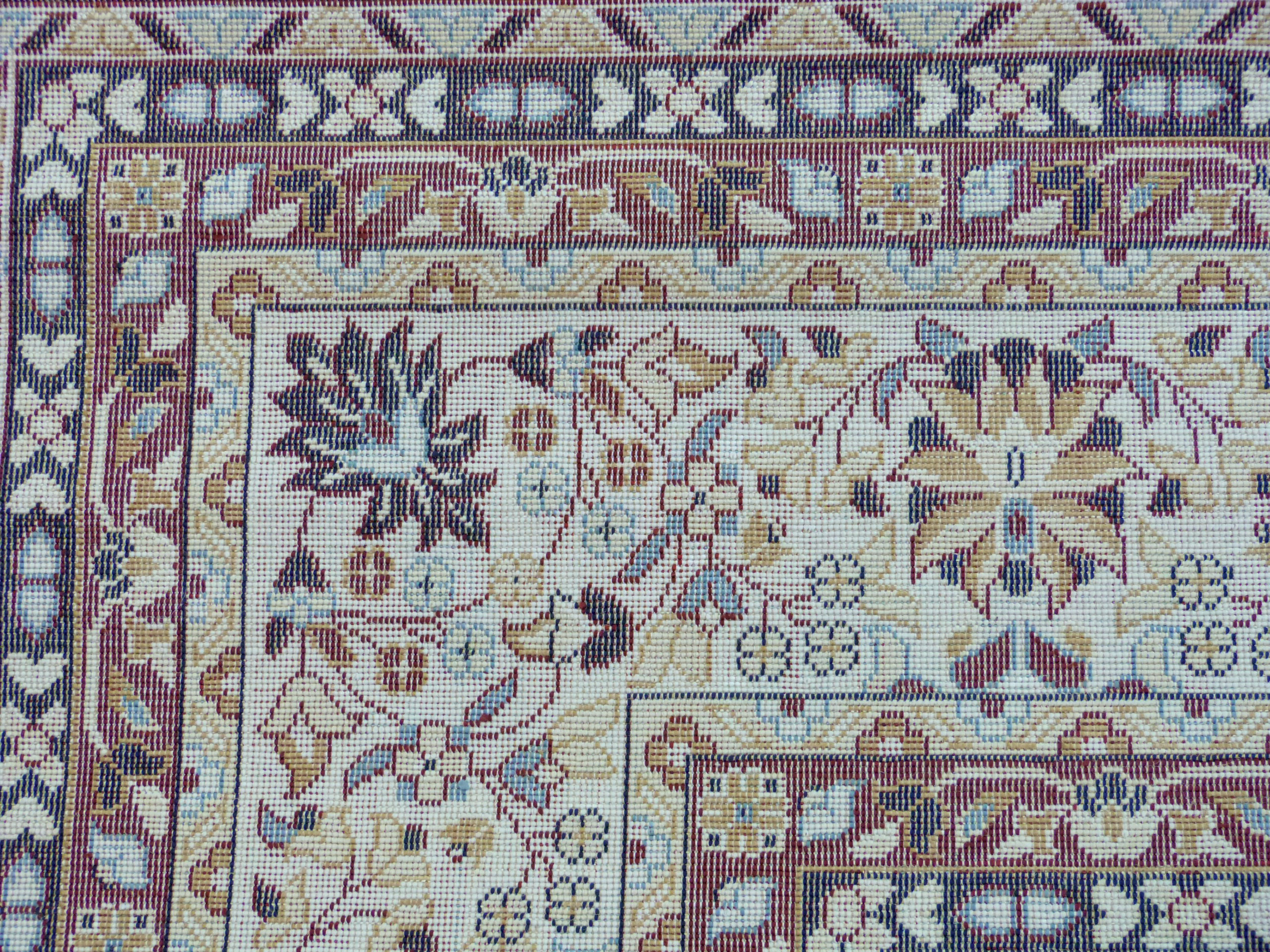 Rich blue ground full pile Turkish Carpet, with floral medallion design 320cm x 200cm approximately - Image 7 of 8