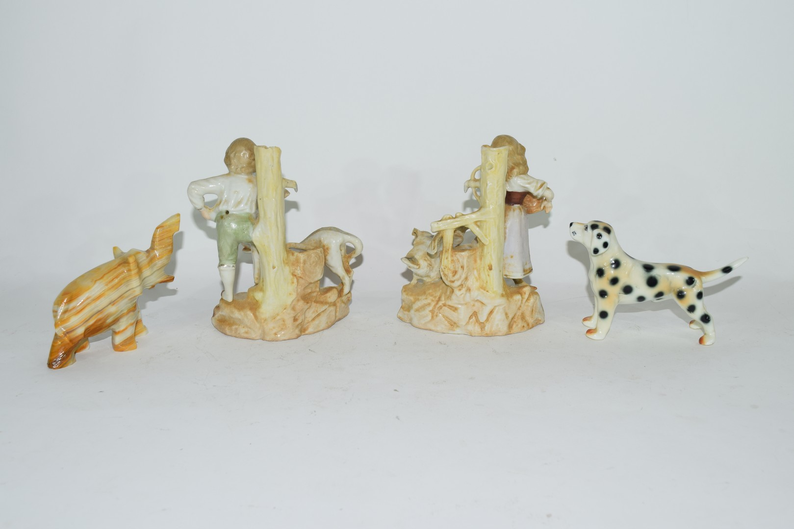 Group of ceramic items, inc two spill vases of children - Image 2 of 2