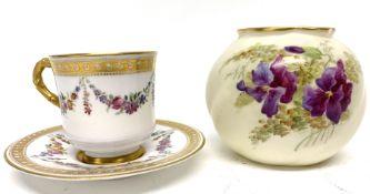Small Grainger Worcester globular vase