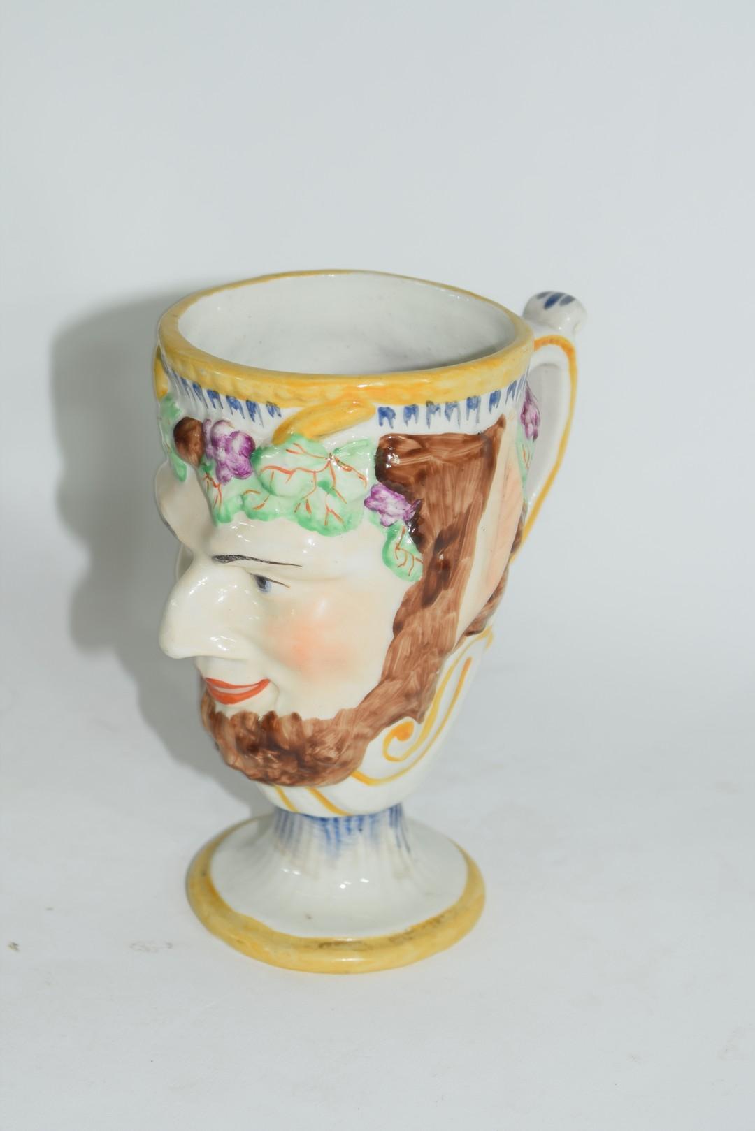 Late 19th century pearlware frog mug