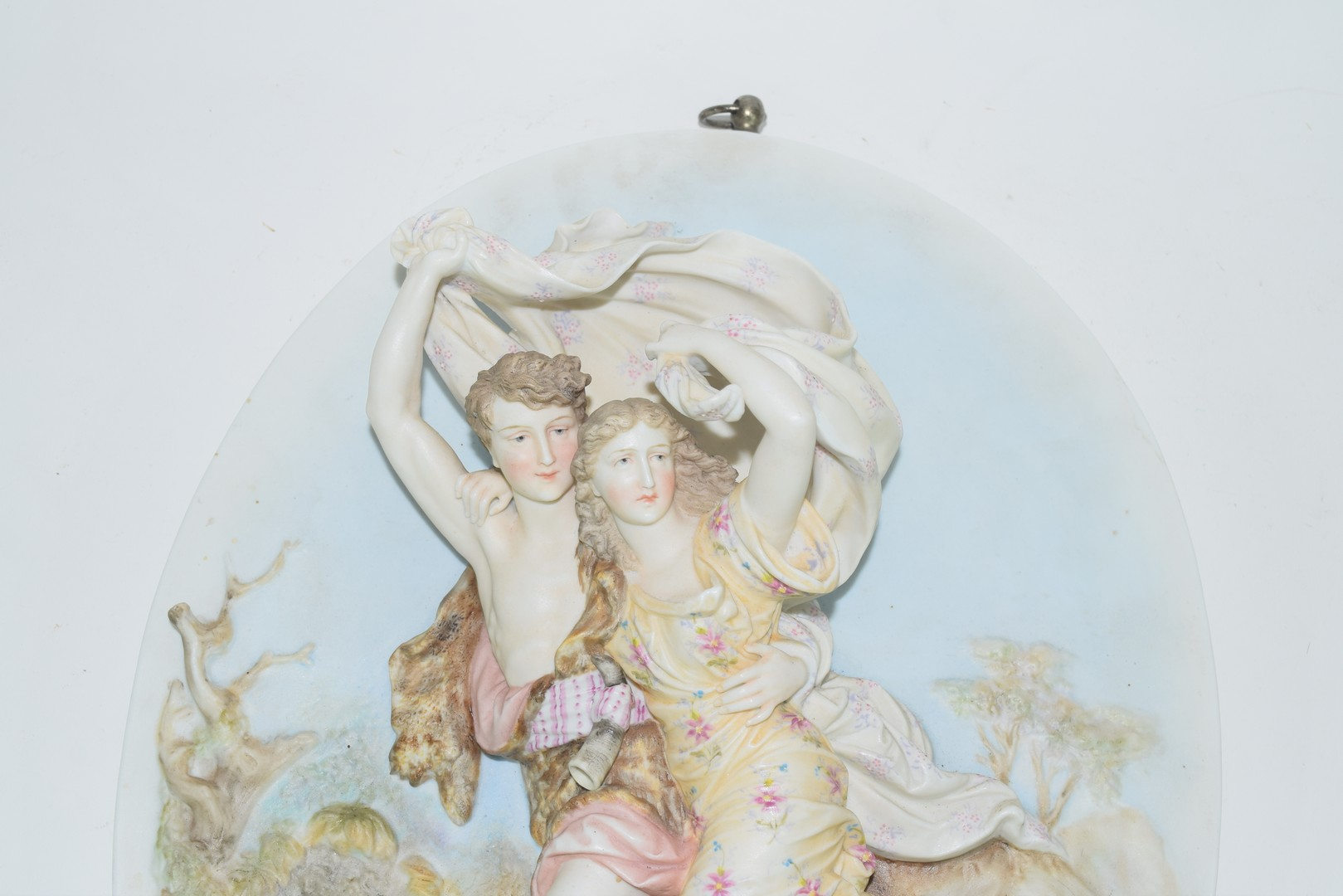 Continental late 19th century porcelain plaque - Image 3 of 3