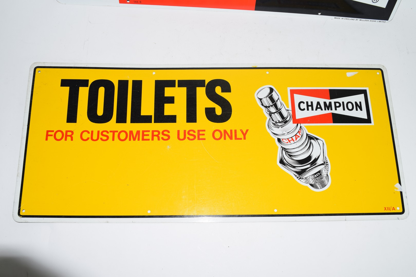 Two metal signs advertising Champion spark plugs - Image 4 of 5