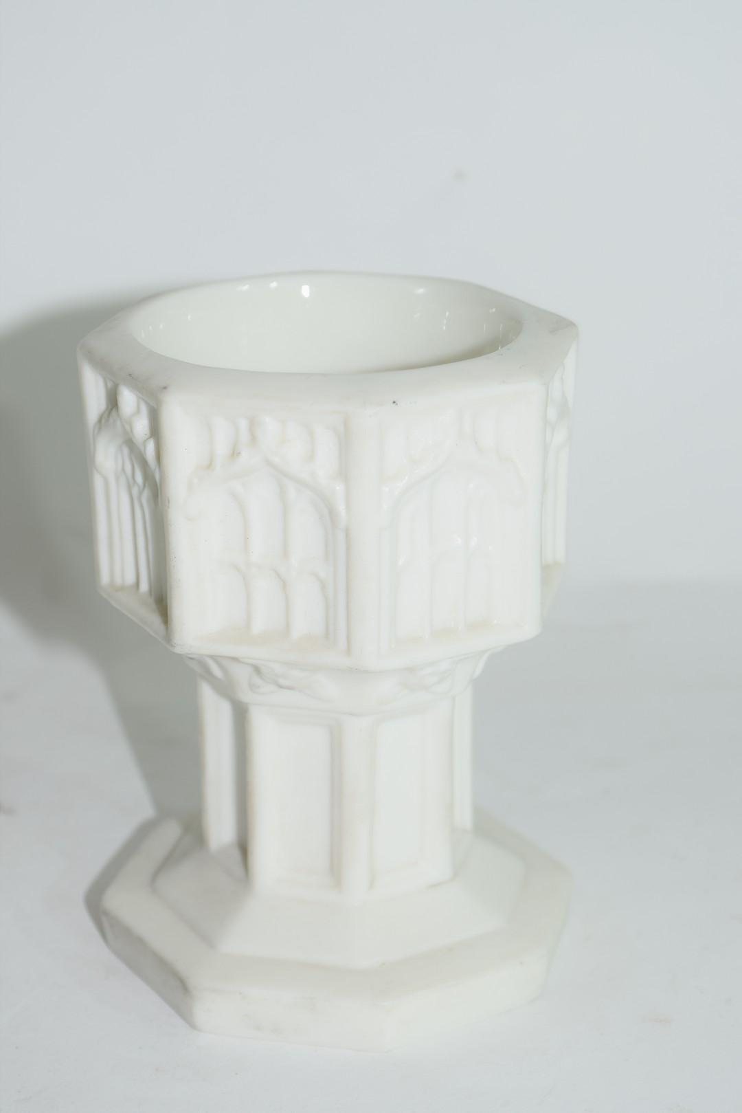 19th century Minton Parian ware model of a font - Image 4 of 7