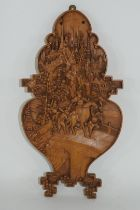 Small Oriental wooden plaque