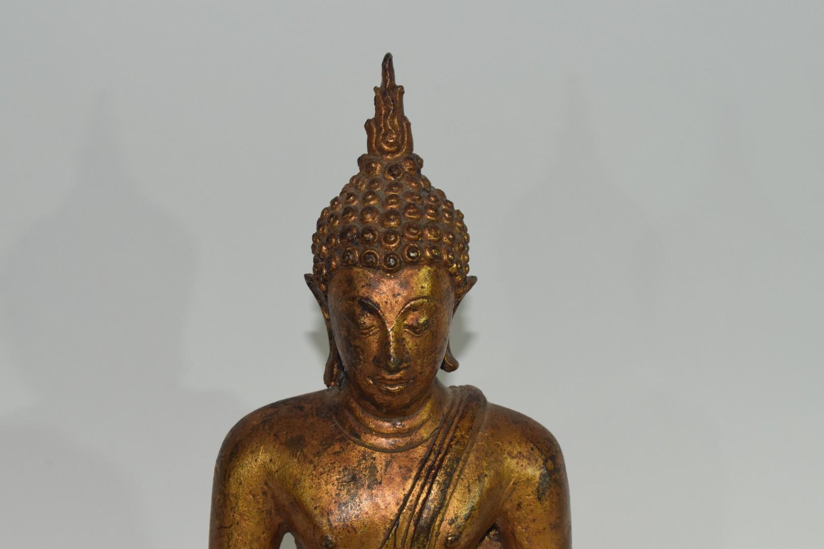 Metal figure of a Buddha - Image 6 of 6