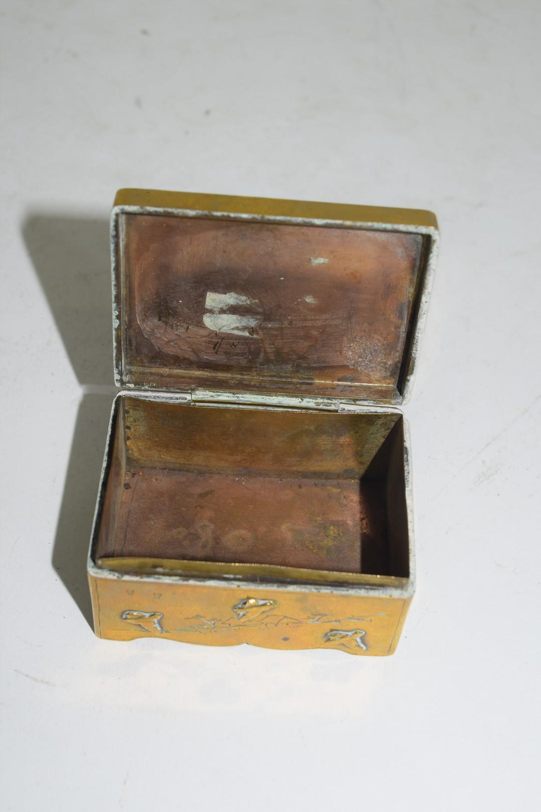 Small Chinese brass box - Image 6 of 6