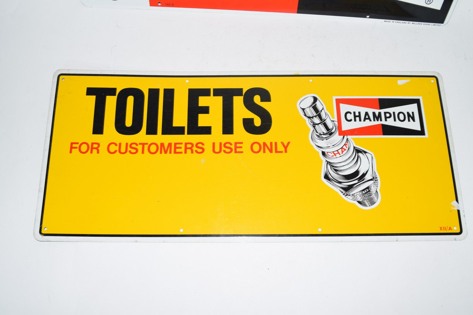 Two metal signs advertising Champion spark plugs - Image 5 of 5