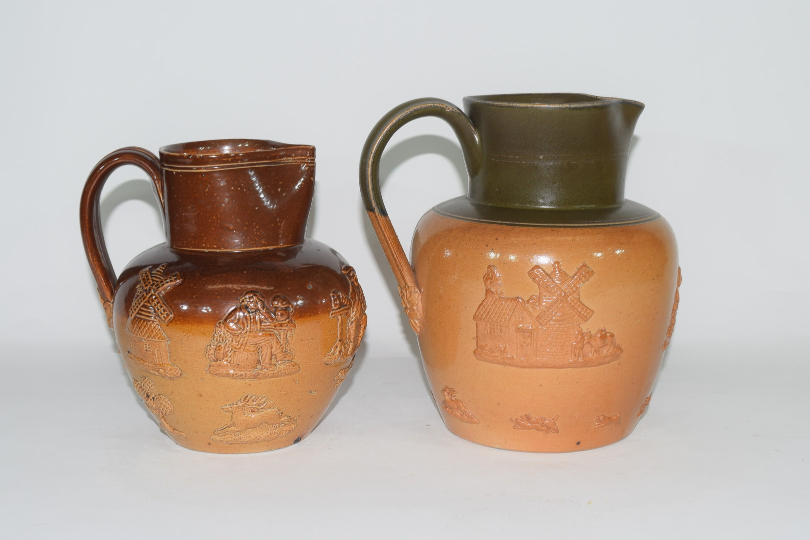 Doulton Lambeth brown harvest ware jug and one other - Image 3 of 8