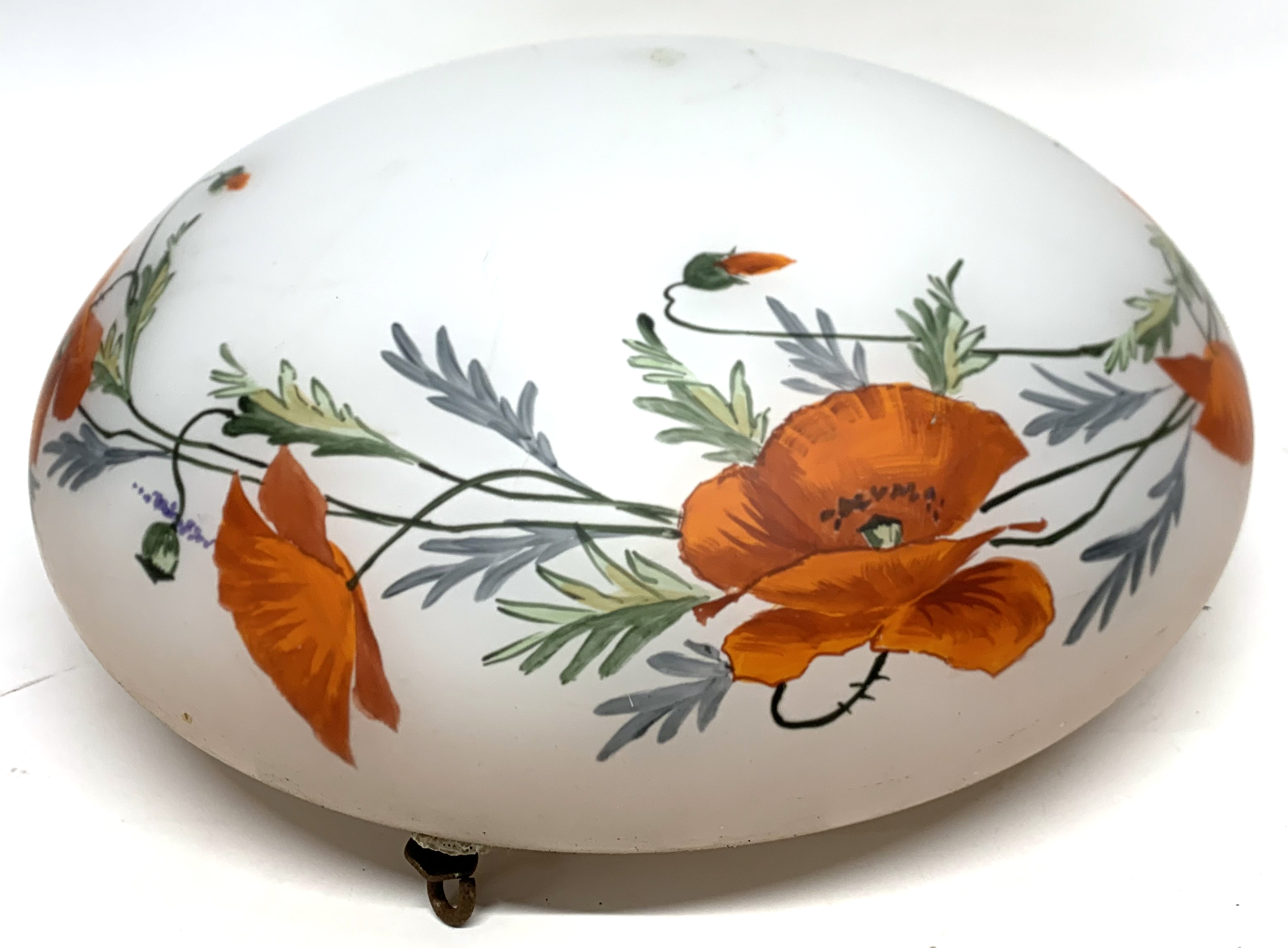 A large early 20th century glass light shade. - Image 6 of 6