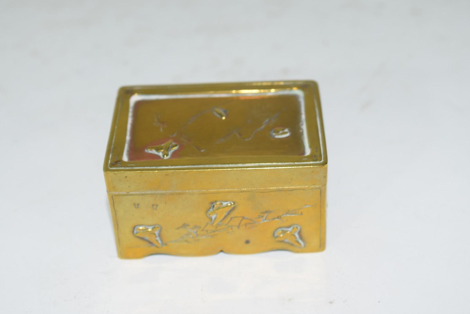 Small Chinese brass box - Image 3 of 6