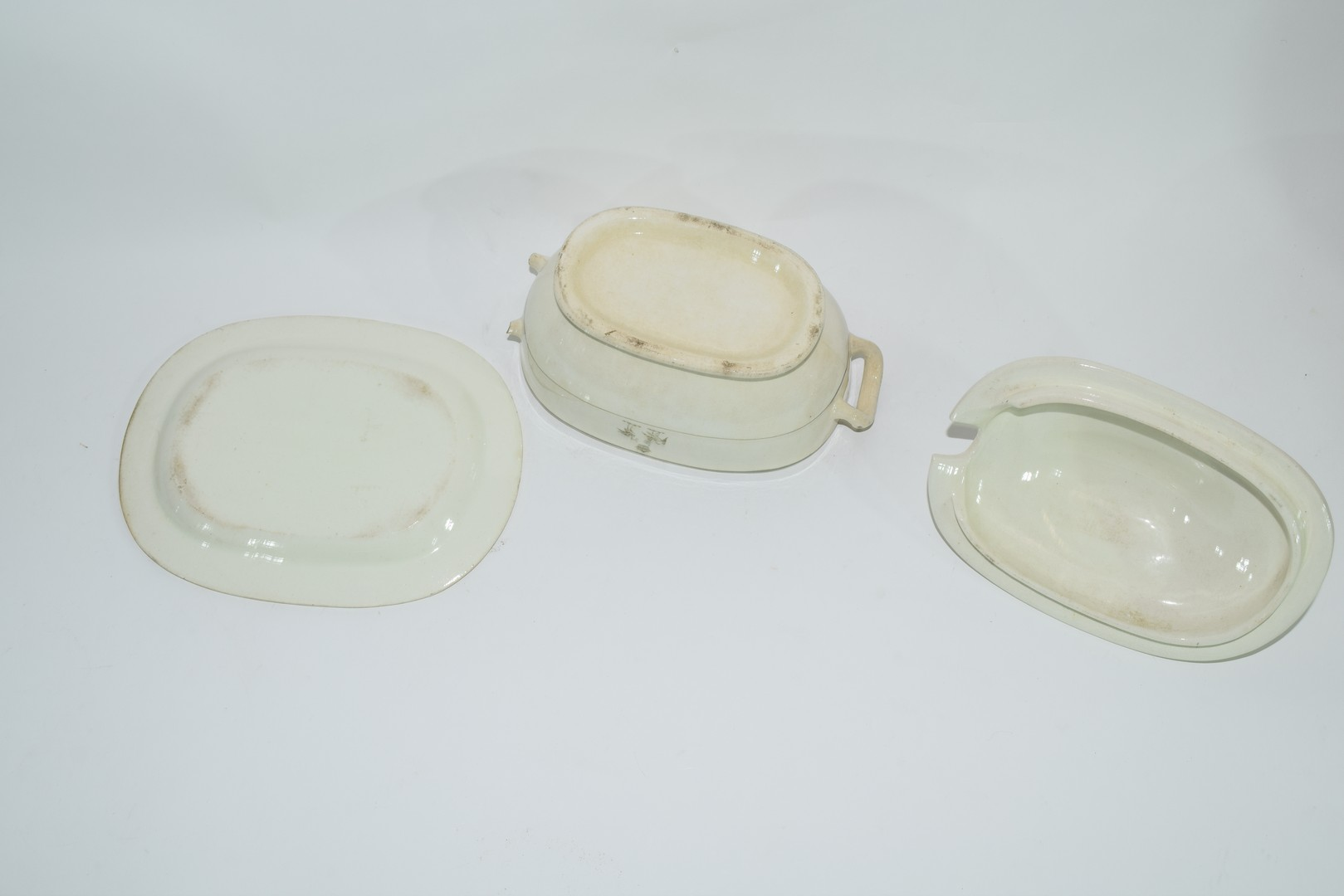 Late 18th century Rogers pearlware small tureen - Image 6 of 6